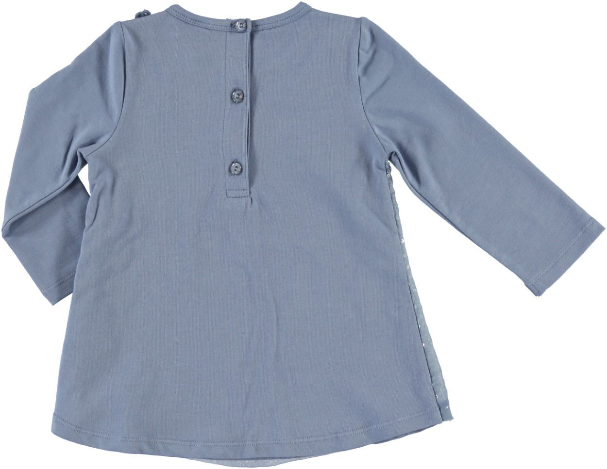 Maxi maglia colore azzurro carta da zucchero per bambina da 6 mesi a