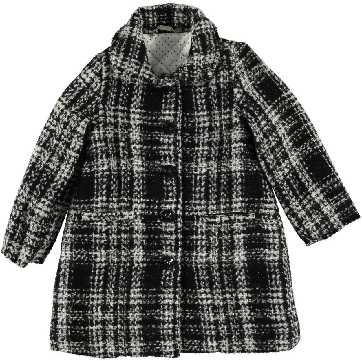 huge discount 385db 85f1d Cappotto a quadri in tessuto effetto lana per bambina da 6 a 16 anni  Sarabanda
