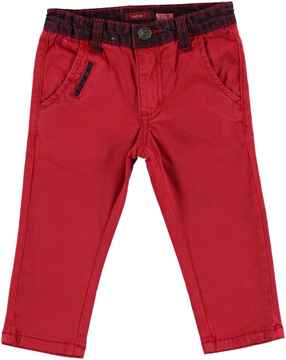 e125262e3625 Pantalone lungo slim in cotone con dettagli in jeans per bambino da 6 mesi  a 7 anni Sarabanda