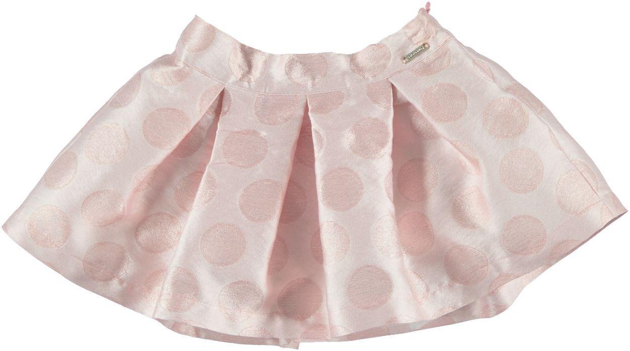 l'atteggiamento migliore 92a3a c0154 Gonna in elegante tessuto effetto lucido con pois in rilievo per bambina da  6 mesi a 7 anni Sarabanda