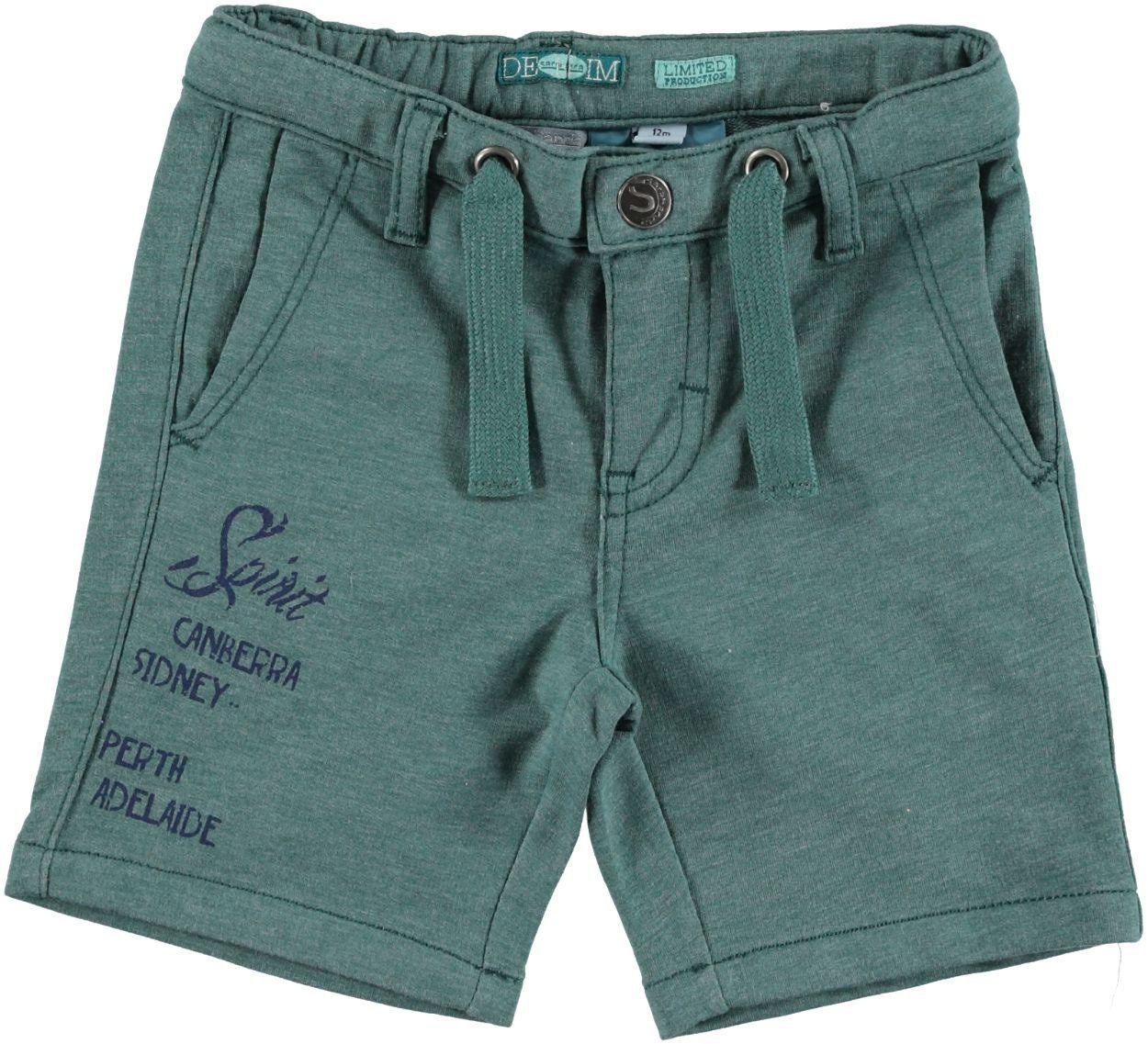 d08c43ea88 Pratico pantalone corto tinta unita misto cotone per bambino da 6 mesi a 7  anni Sarabanda