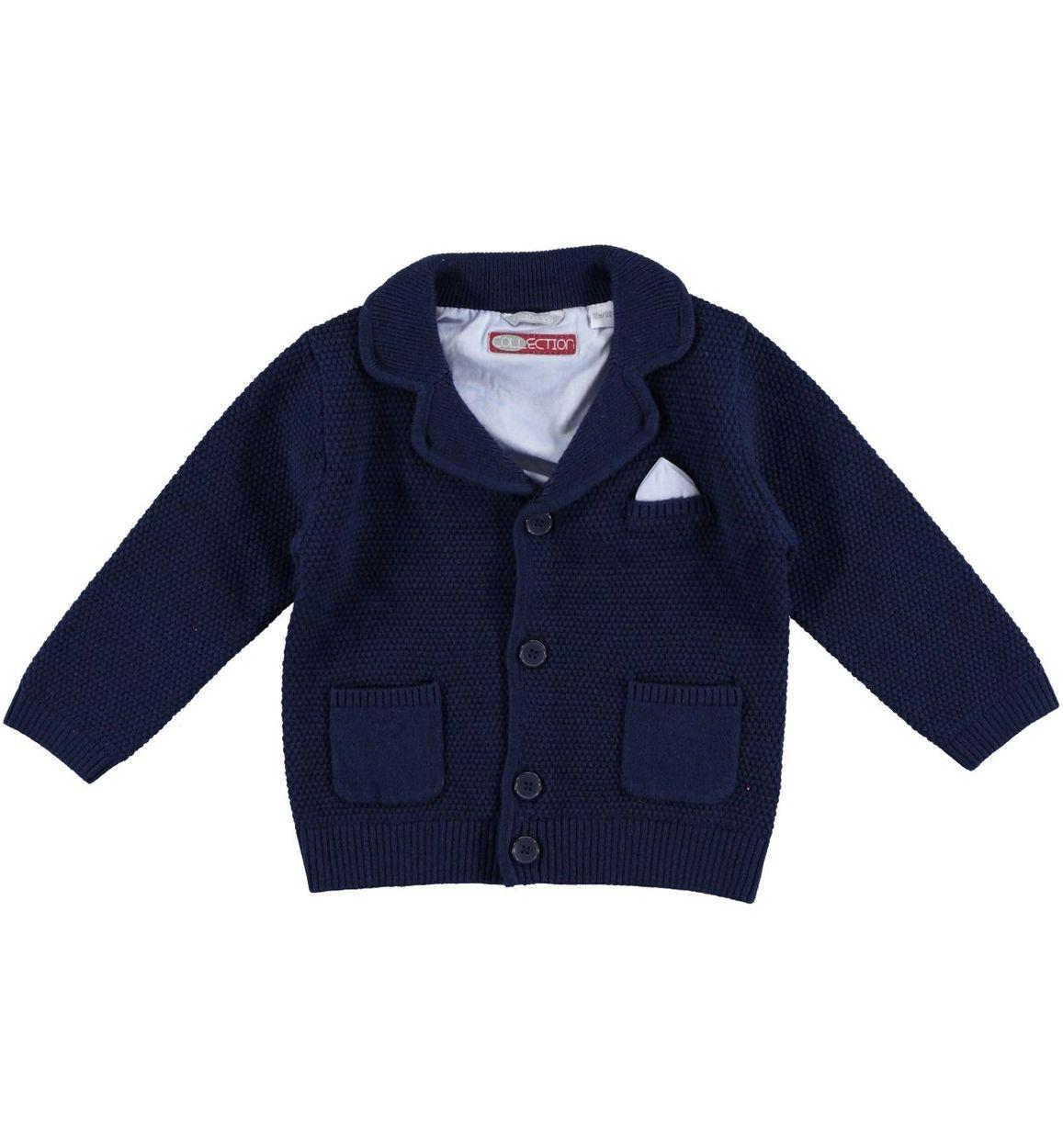 meet ea453 0febf Giacca in lana e cotone per bambino da 6 mesi a 7 anni Sarabanda