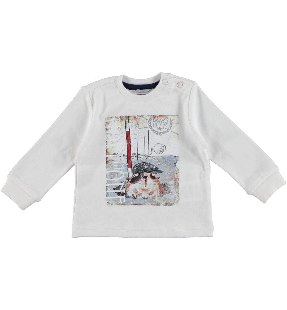 a64846d099 Maglietta in interlock 100% cotone con cucciolo per bambino da 6 mesi a 7  anni Sarabanda