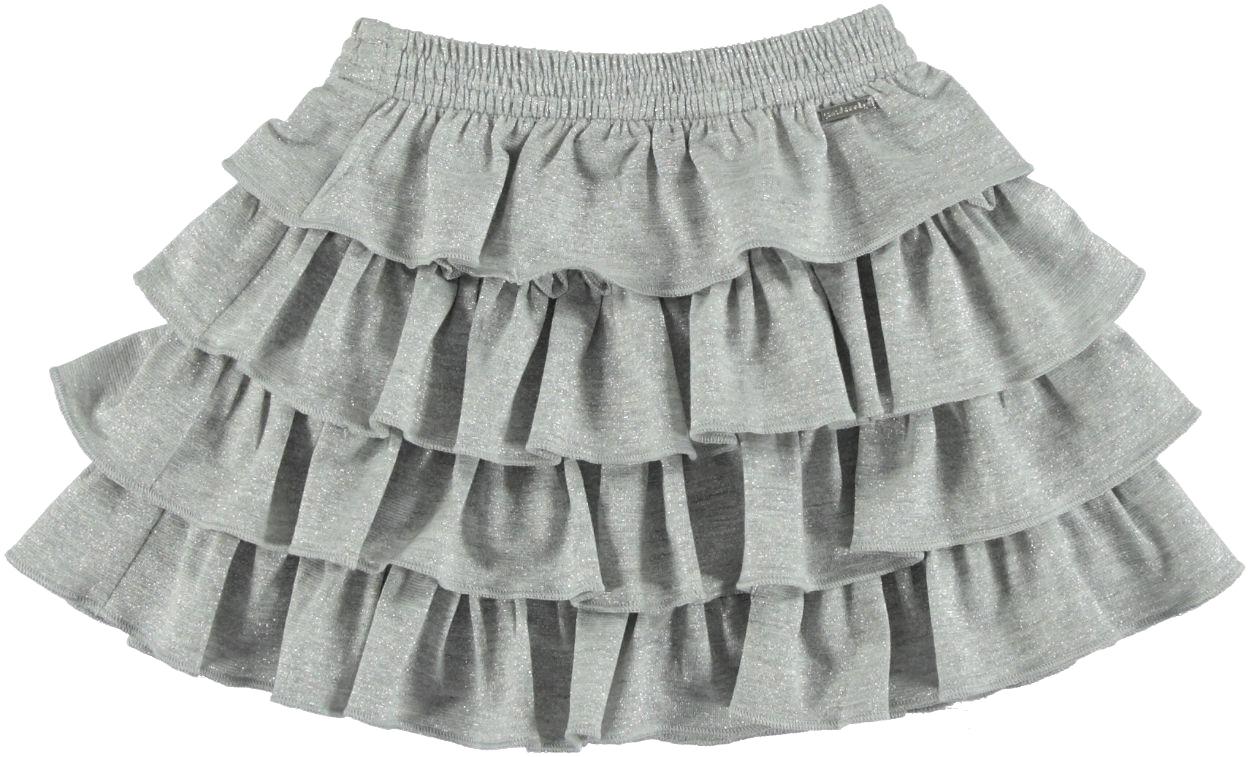 nuovo di zecca 2fdb8 976b4 Gonna a balze arriccciate con intrecci di fili lurex per bambina da 6 mesi  a 7 anni Sarabanda