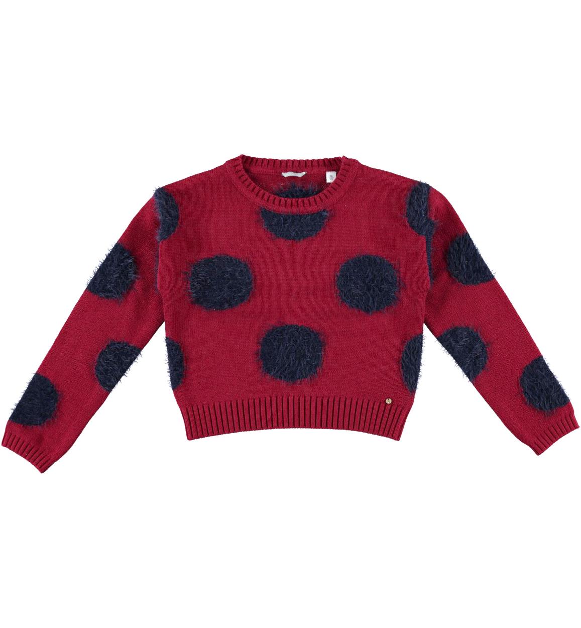 Versatile e comoda maglia corta a pois per bambina da 6 a 16 anni Sarabanda db532a7f7c3
