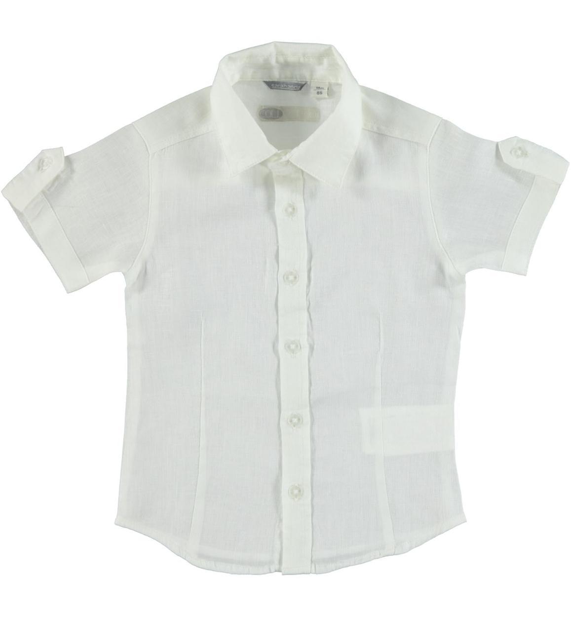 negozio online cd038 fa539 Camicia a manica corta 100% lino per bambino da 6 mesi a 7 anni Sarabanda