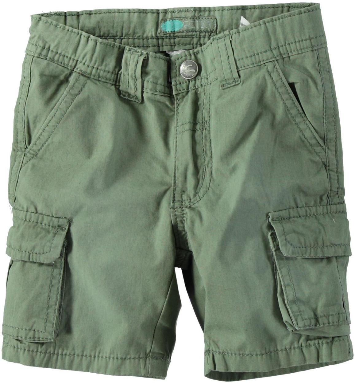 a96a643099 Pantaloncino modello cargo in popeline 100% cotone per bambino da 6 mesi a  7 anni Sarabanda