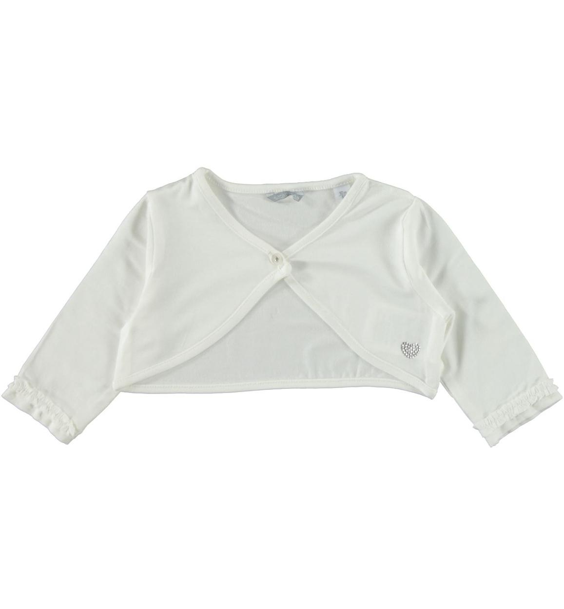best service 4a56a 56cfd Grazioso coprispalle in jersey di viscosa con manica 3/4 per bambina da 6  mesi a 7 anni Sarabanda