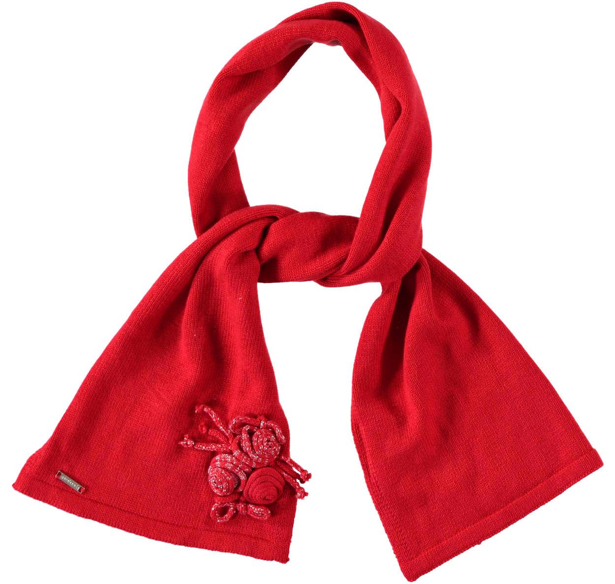 Stilosissima sciarpa con roselline lurex per bambina da 6 mesi a 7 anni  Sarabanda 227fd8e9ae3f