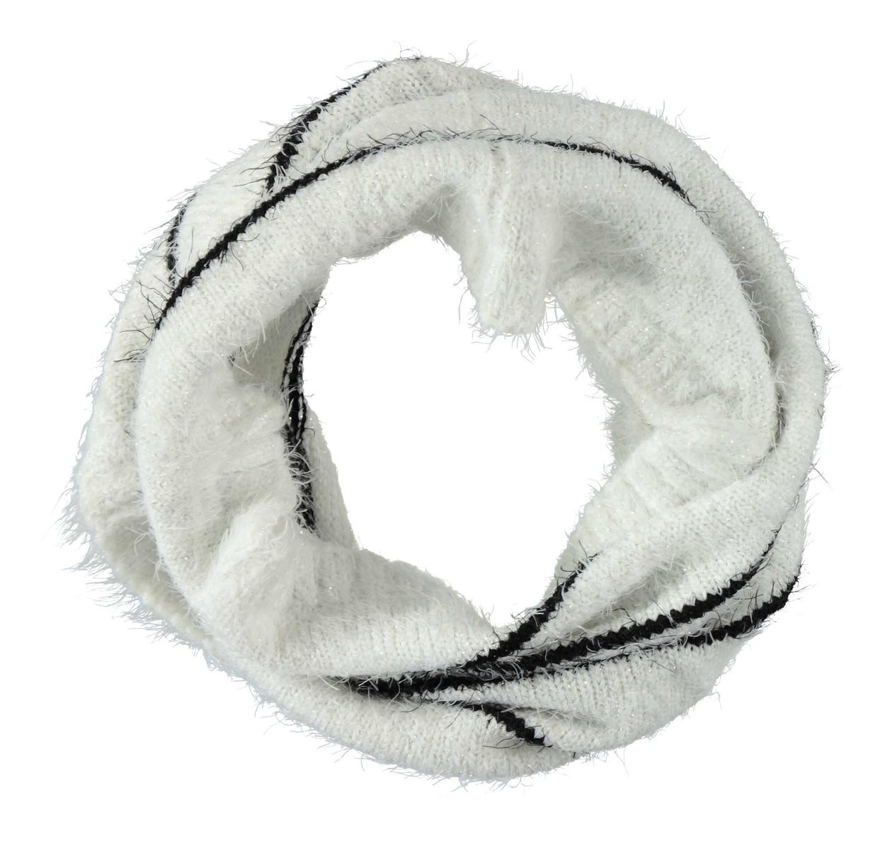 Scaldacollo tricot lurex effetto pelliccia a righe per bambina da 6 a 16  anni Sarabanda 7940b5675db