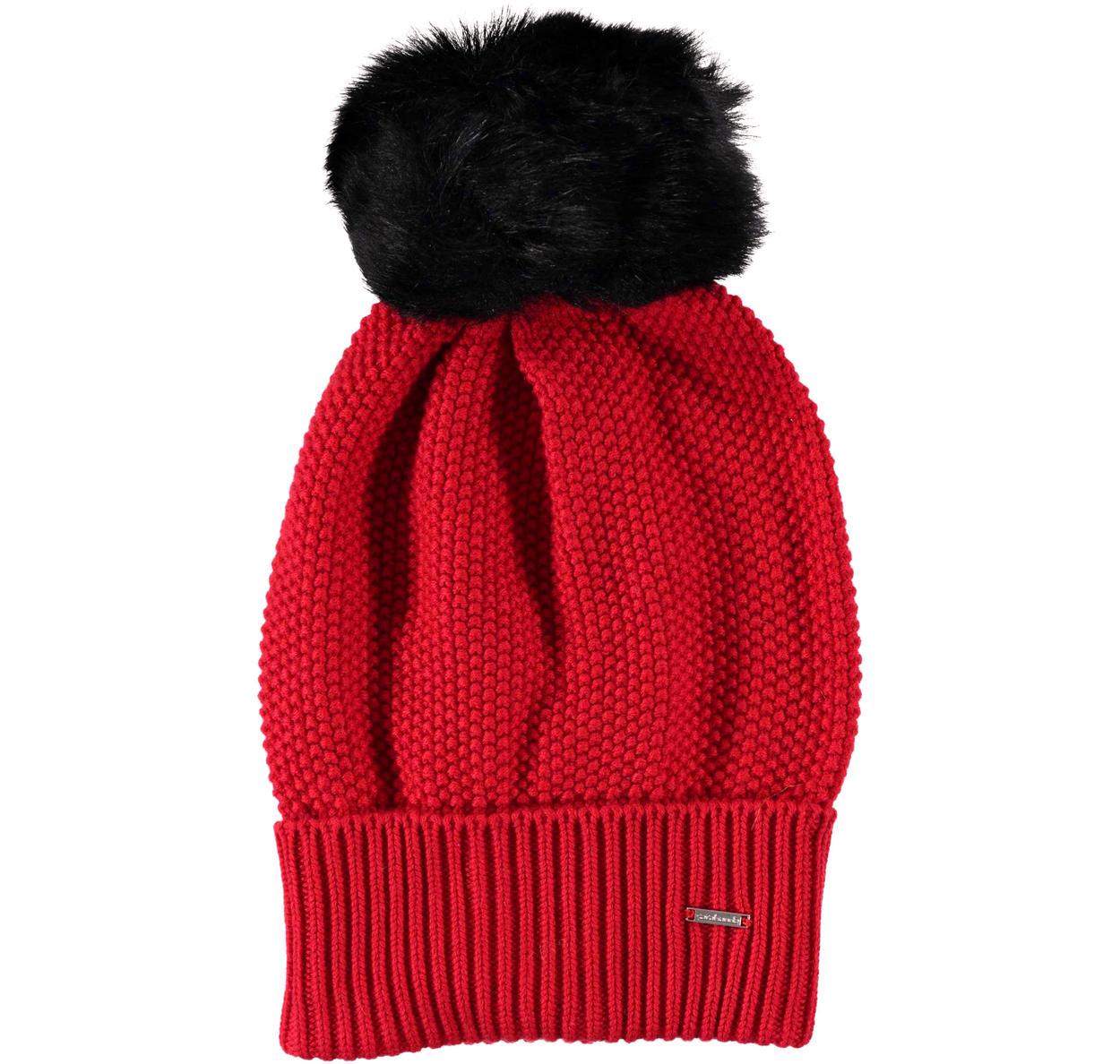 Cappello modello cuffia con pon pon per bambina da 6 a 16 anni Sarabanda 685865452290