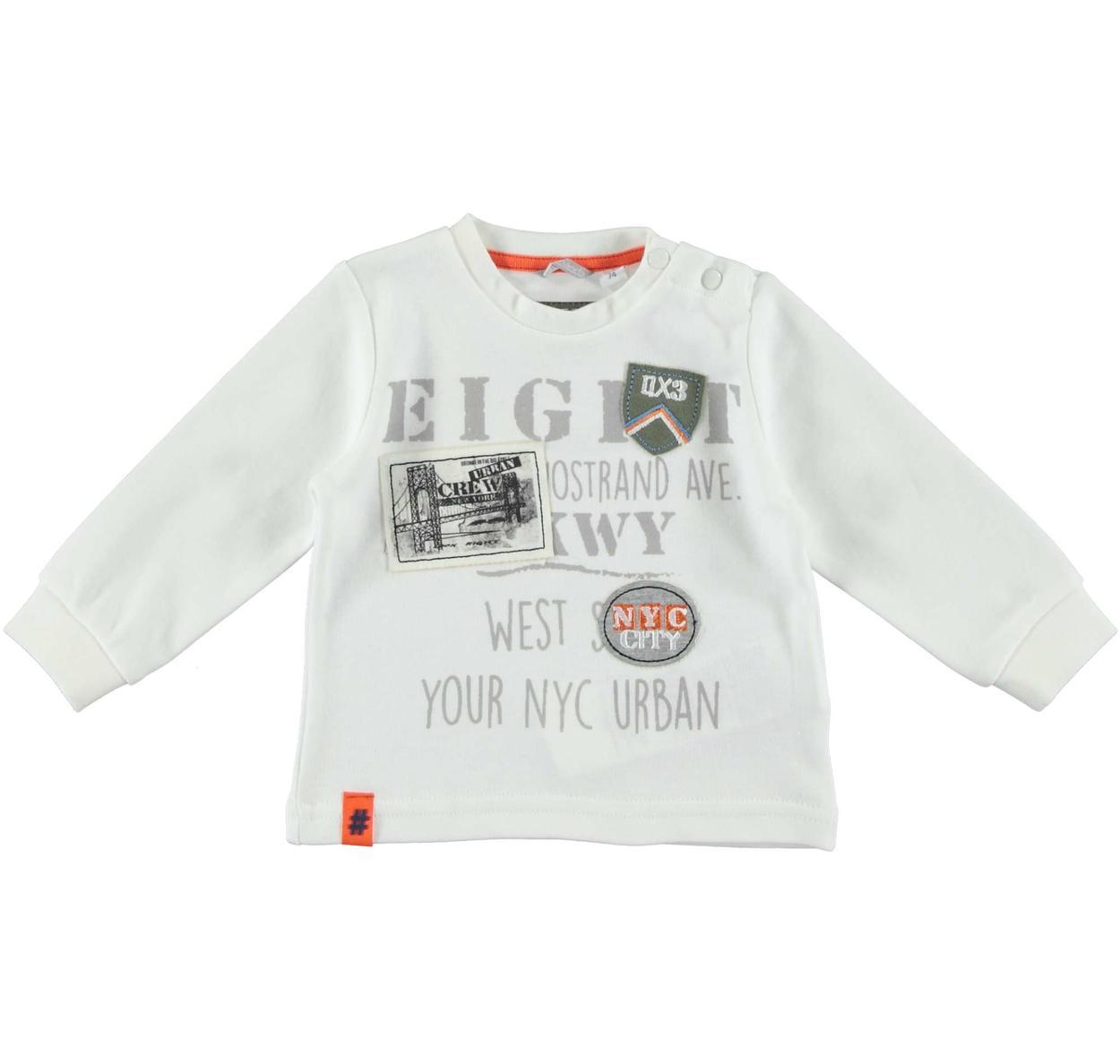 d84d33b512 Maglietta girocollo 100% cotone stampa militare per bambino da 6 mesi a 7  anni Sarabanda