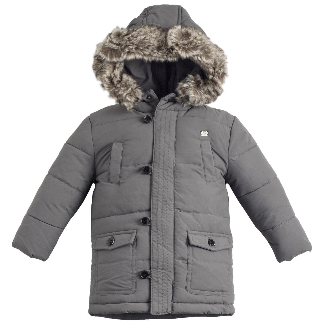 design senza tempo 3c73f 04999 Giubbotto invernale imbottito con ovatta effetto piuma per bambino da 6  mesi a 7 anni Sarabanda