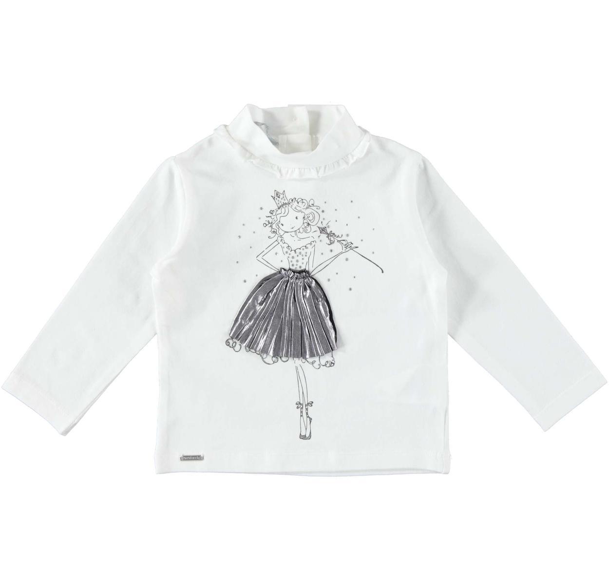 a6b1c639c8 Elegante lupetto con rouches, strass e glitter per bambina da 6 mesi a 7  anni Sarabanda