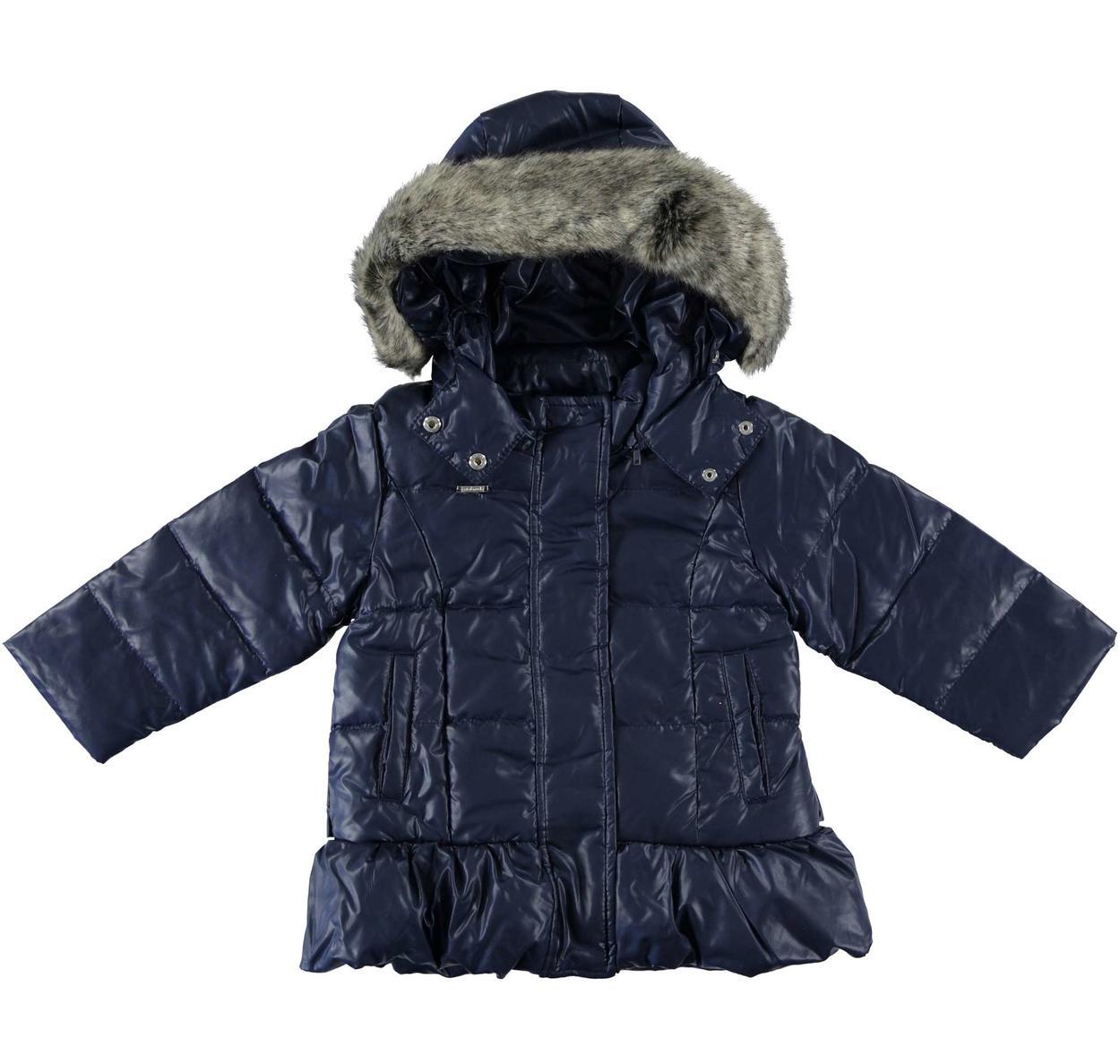 online store 6f67c 3deb1 Piumino in vera piuma d'oca con cappuccio per bambina da 6 mesi a 7 anni  Sarabanda