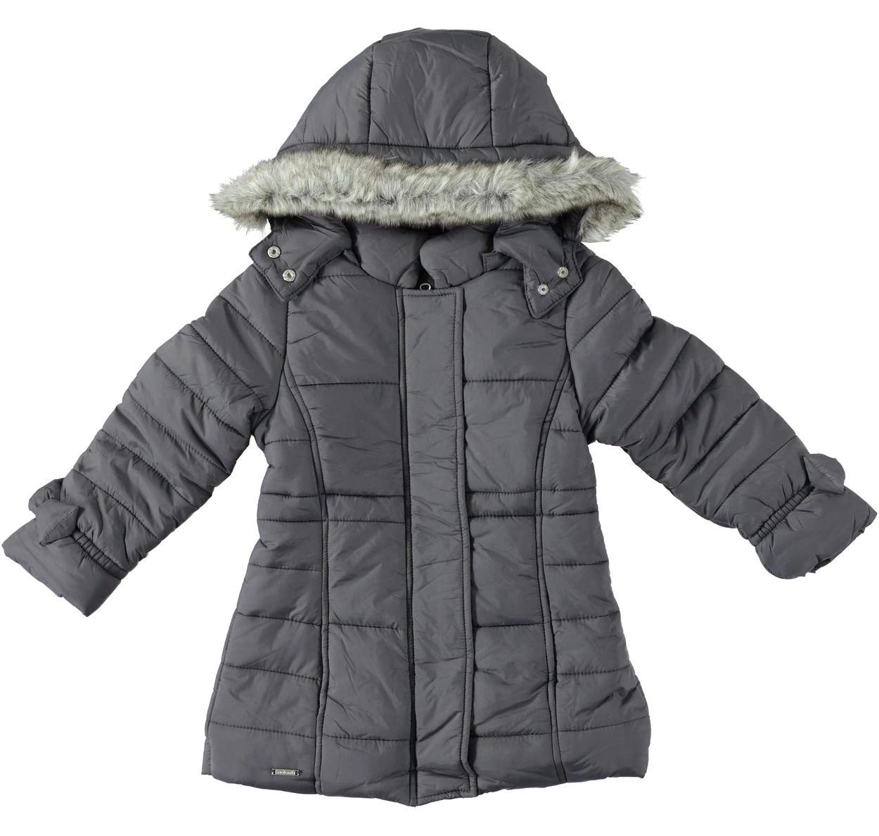 low priced b5667 bc7a0 Piumino invernale foderato in ecopelliccia e imbottito in soffice ovatta  per bambina da 6 mesi a 7 anni Sarabanda
