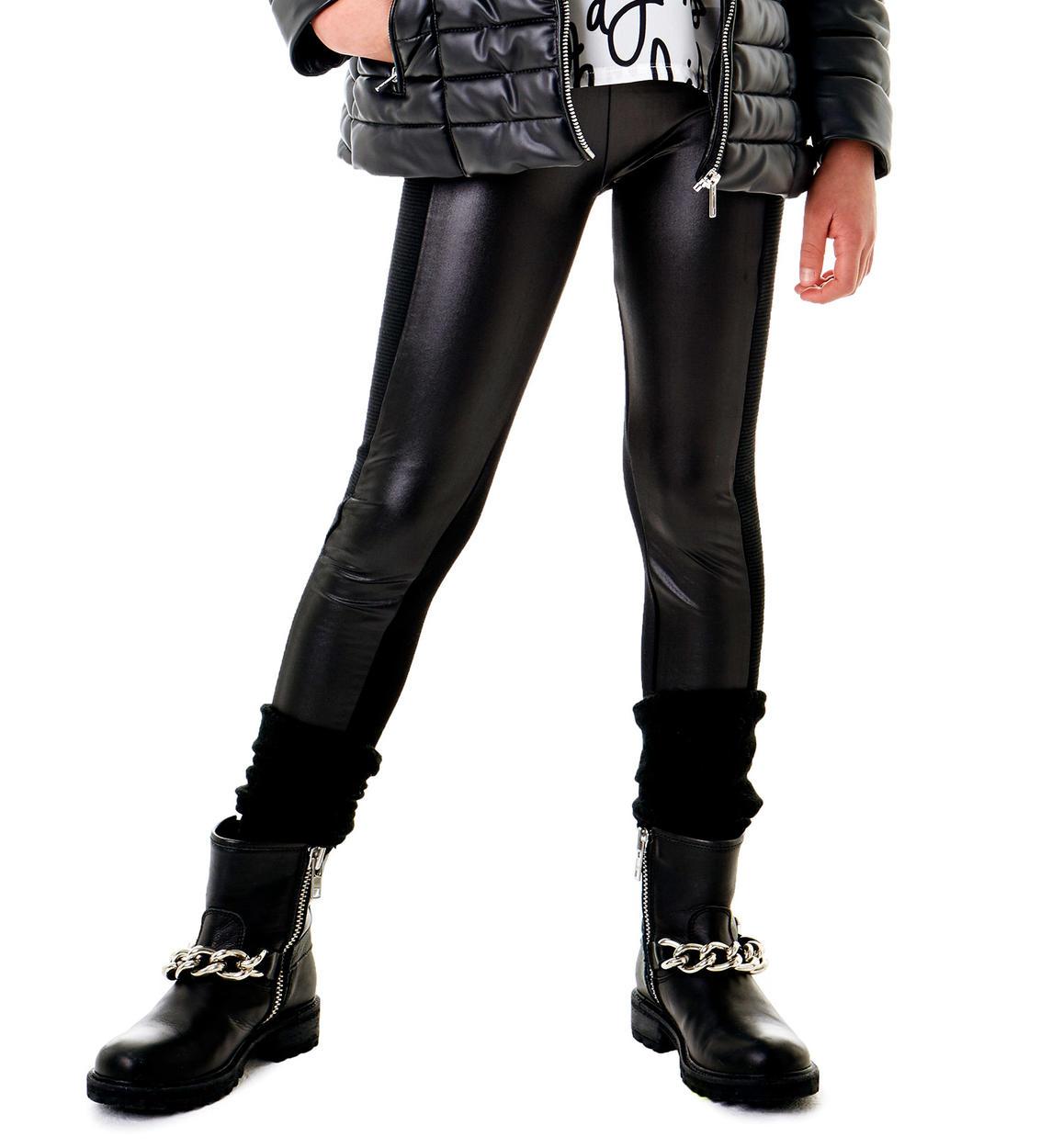 scarpe di separazione nuove immagini di grandi affari Pantalone leggings stile biker con rifiniture ecopelle per bambina ...