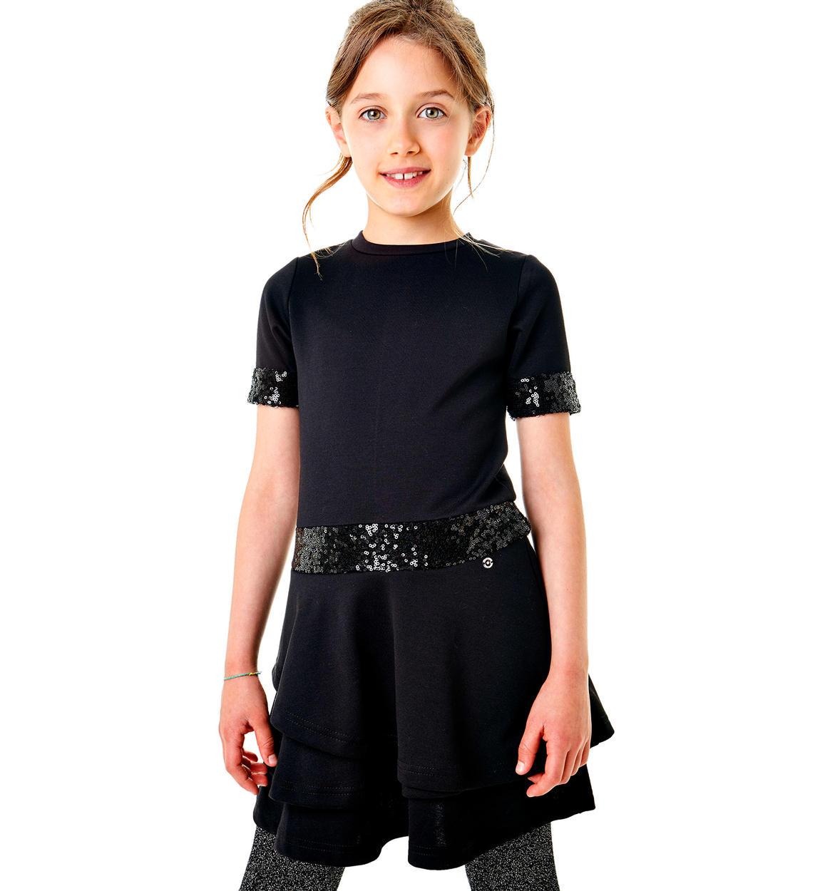 Elegante abitino con paillettes per bambina da 6 a 16 anni Sarabanda ... 3fe94fd6841