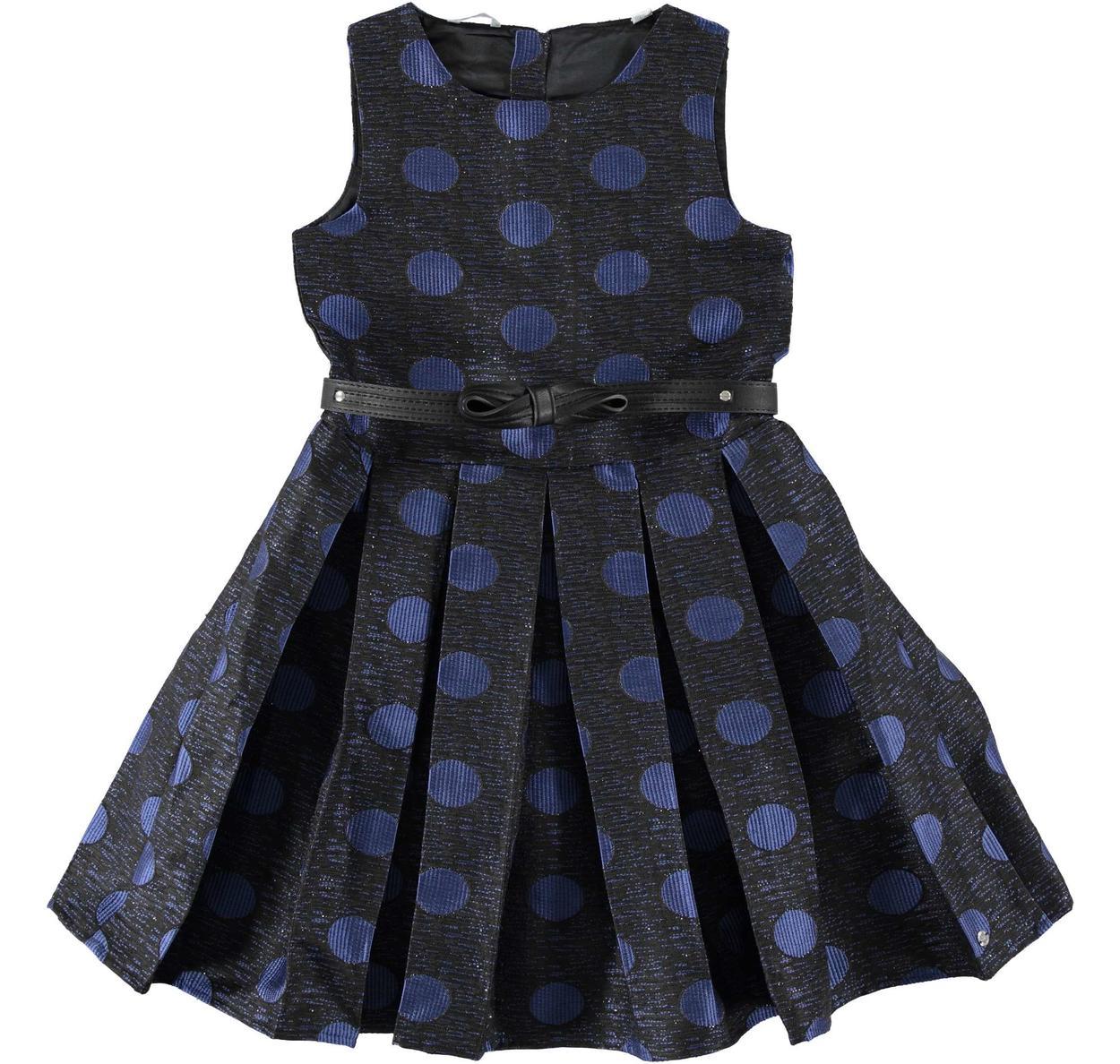 Prezioso vestito scamiciato con fantasia pois per bambina da 6 a 16 anni  Sarabanda 4677d174f2d
