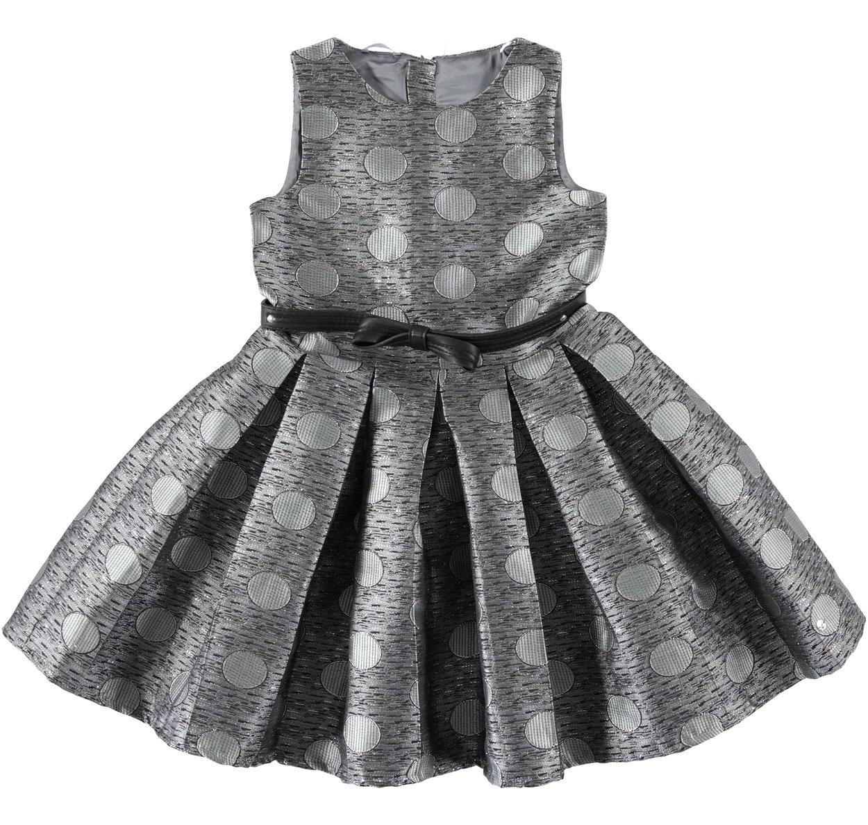 Prezioso vestito scamiciato con fantasia pois per bambina da 6 a 16 anni  Sarabanda. GRIGIO-GRIGIO-6J37 c19a7c748c4