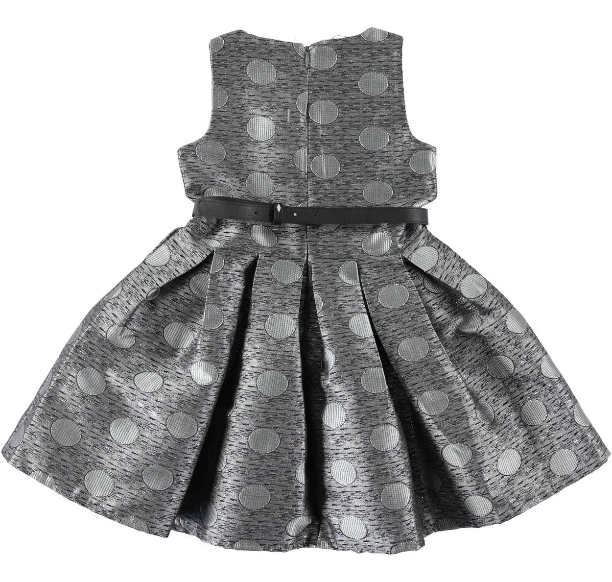 Prezioso vestito scamiciato con fantasia pois per bambina da 6 a 16 anni  Sarabanda. GRIGIO-GRIGIO-6J37. BLU-NERO-6J35 back. GRIGIO-GRIGIO-6J37 back. cd9fa41ed30