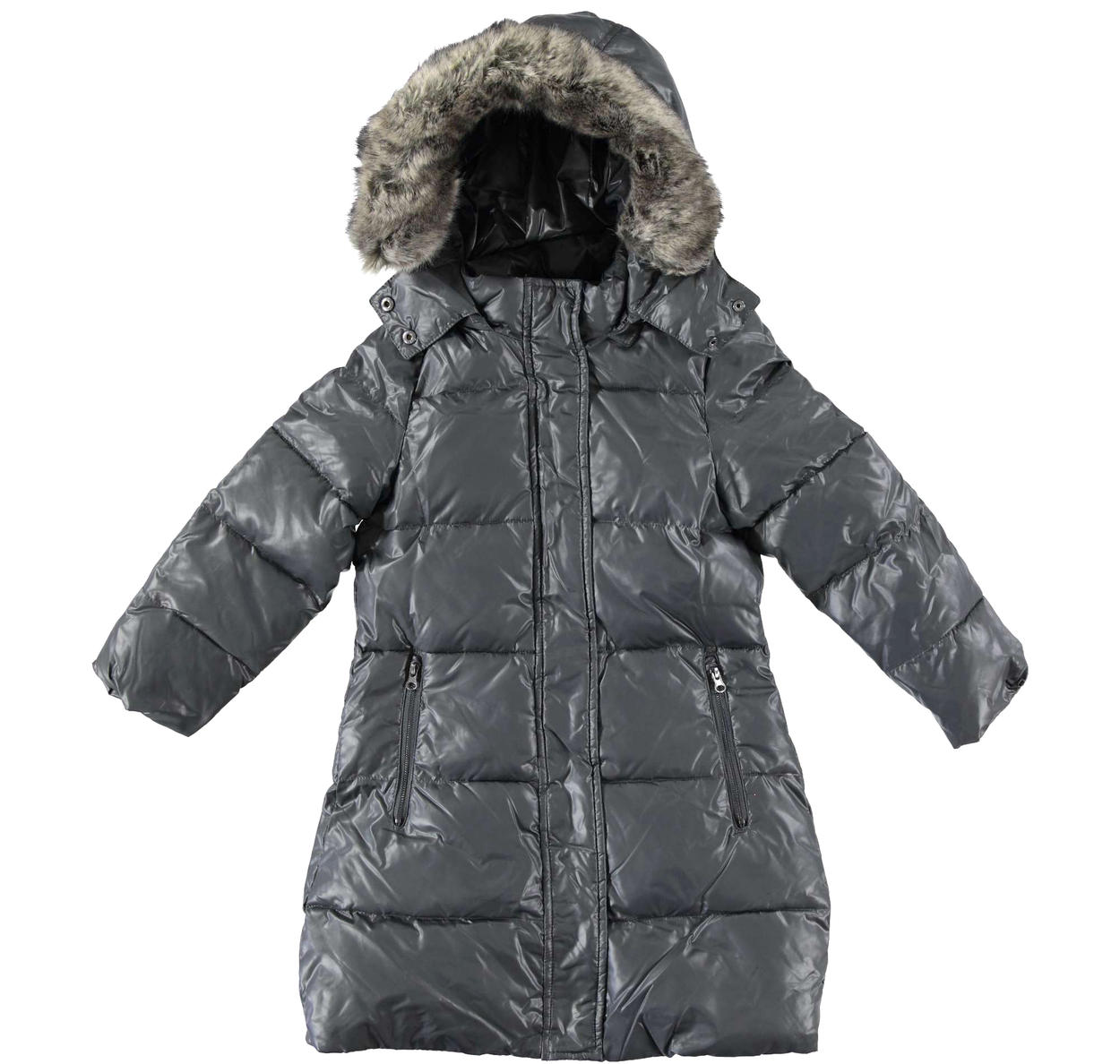 newest 132de 8cd6c Piumino invernale imbottito in ovatta e foderato in pelliccia sintetica per  bambina da 6 a 16 anni Sarabanda