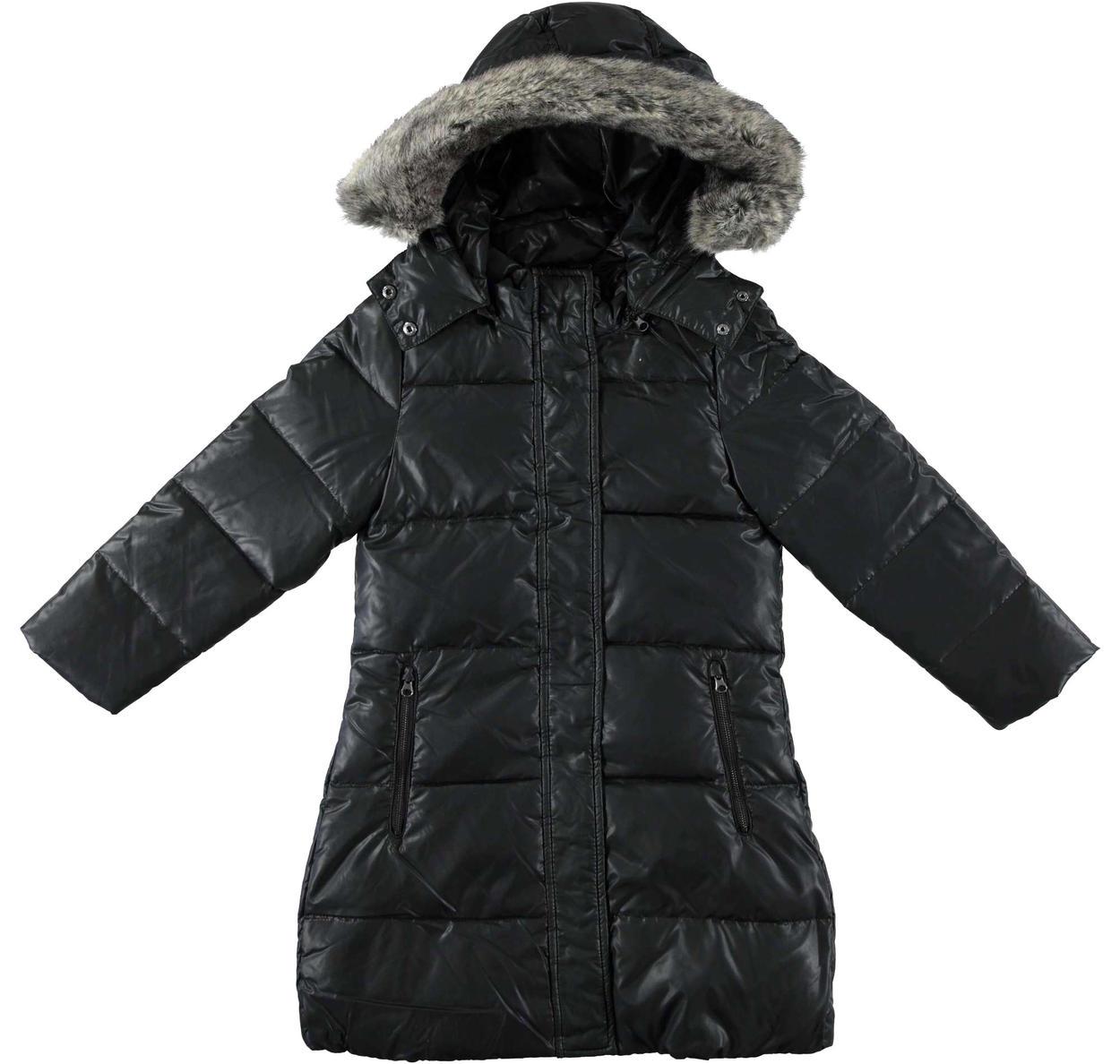 competitive price 16f54 cde63 Piumino lungo in piuma d'oca e foderato in eco pelliccia per bambina da 6 a  16 anni Sarabanda