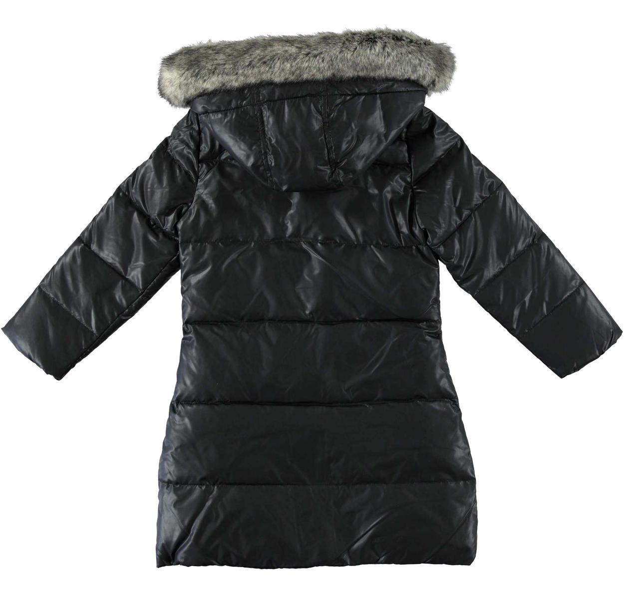 competitive price 33fe2 be454 Piumino lungo in piuma d'oca e foderato in eco pelliccia per bambina da 6 a  16 anni Sarabanda