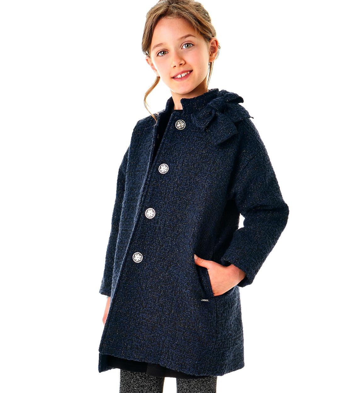 official photos 11c09 a62fc Cappotto in sofisticato bouclè lurex per bambina da 6 a 16 anni Sarabanda