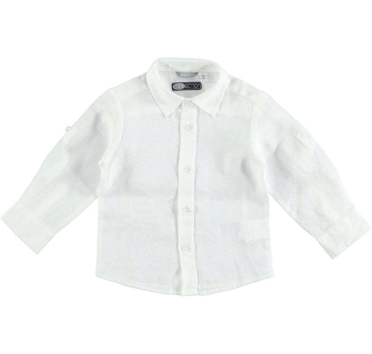sale retailer a72e9 f740f Camicia in morbido e fresco lino 100% per bambino da 6 mesi a 7 anni  Sarabanda