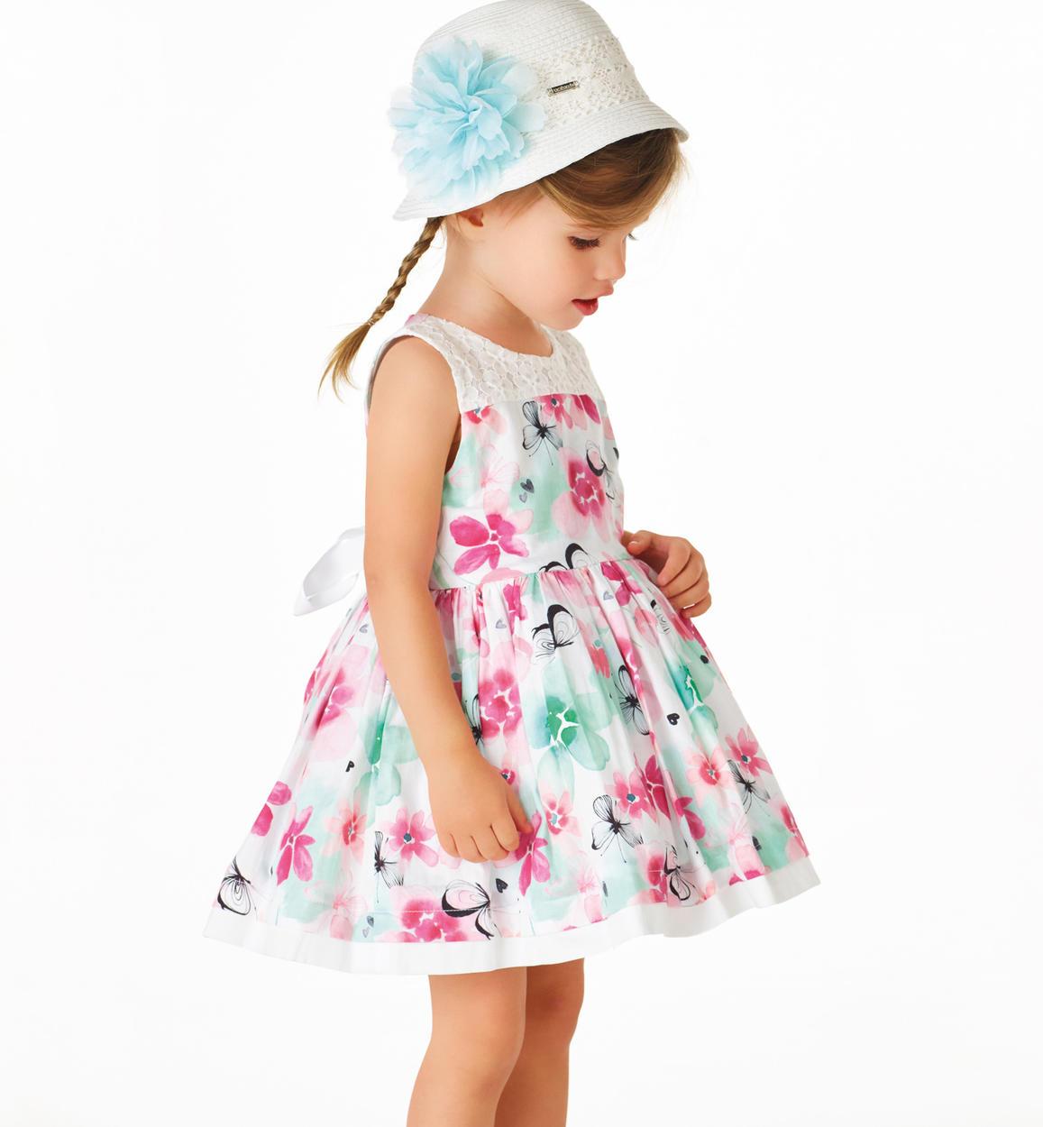 finest selection 9a14e 80758 Vestitino floreale in cotone satinato per bambina da 6 mesi a 7 anni  Sarabanda