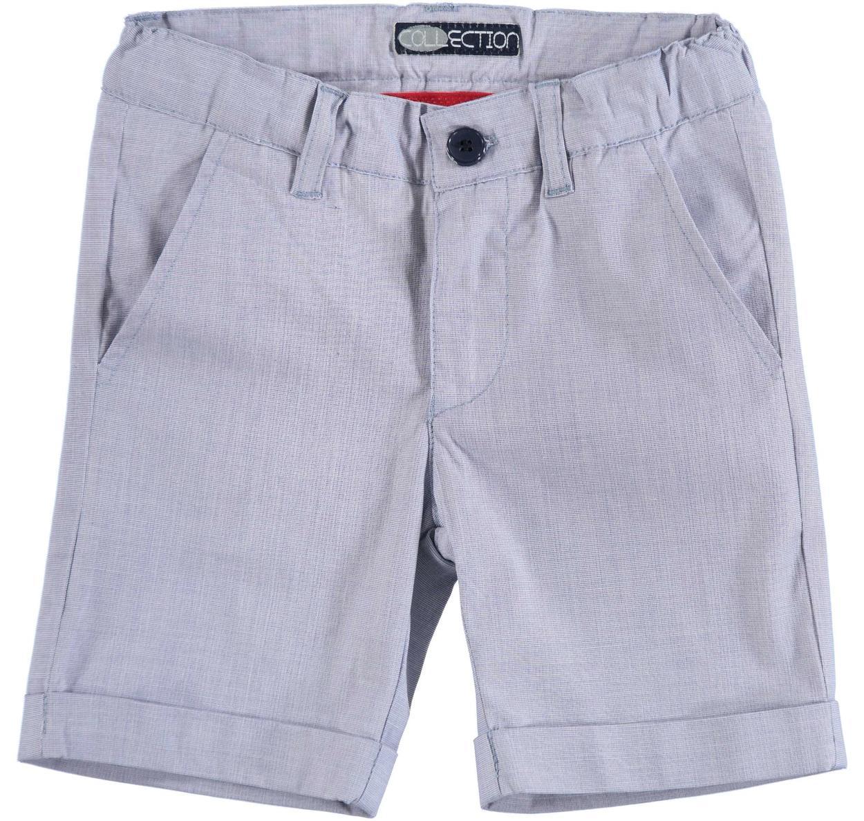 e47664689d Pantalone corto in tela di cotone stretch armaturata per bambino da 6 mesi  a 7 anni Sarabanda
