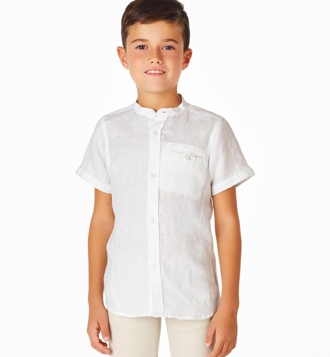 rivenditore di vendita 418b8 b8df1 Camicia bambino a manica corta in 100% lino per bambino da 6 a 16 anni  Sarabanda