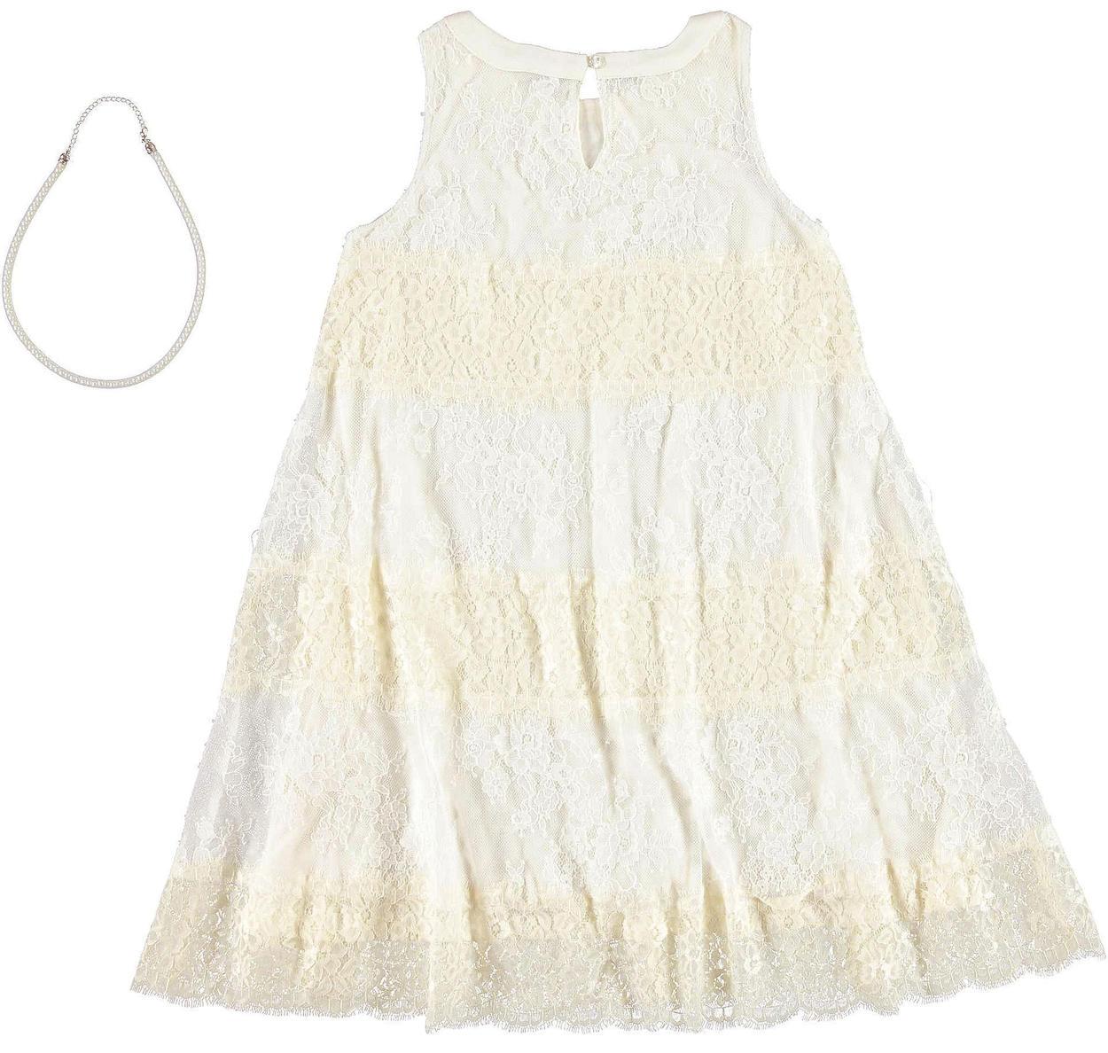 più popolare selezione mondiale di prezzo base Abito cerimonia bambina: vestitino in raffinato pizzo floreale vestibilità  da 6 a 16 anni Sarabanda
