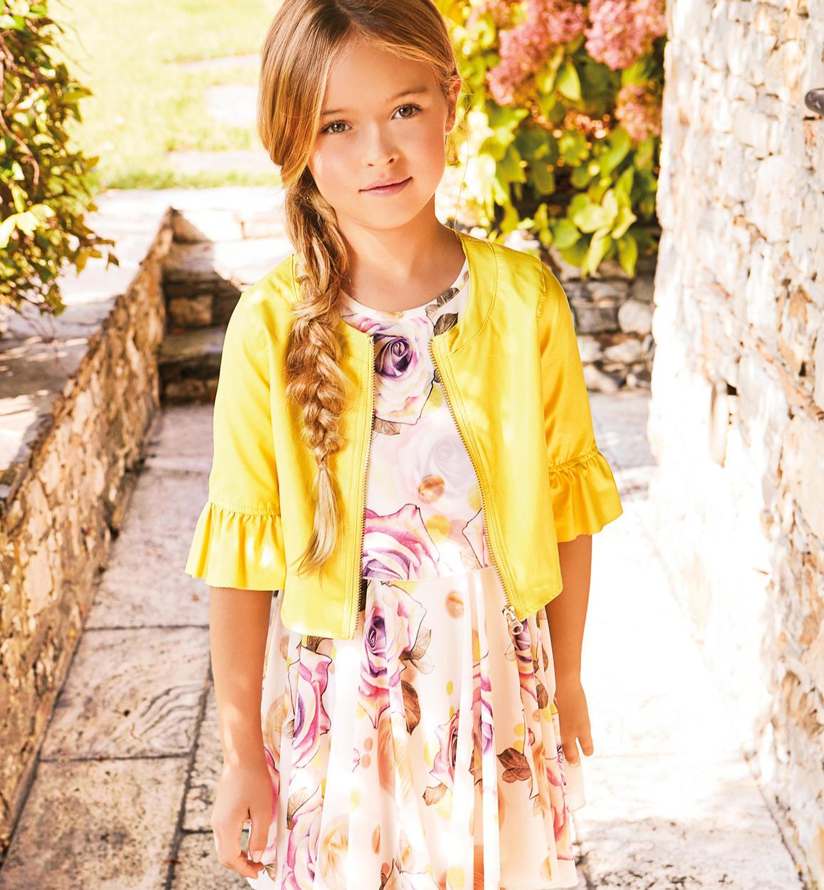 8980afdb57d8 Elegante vestito in chiffon floreale per bambina da 6 a 16 anni ...