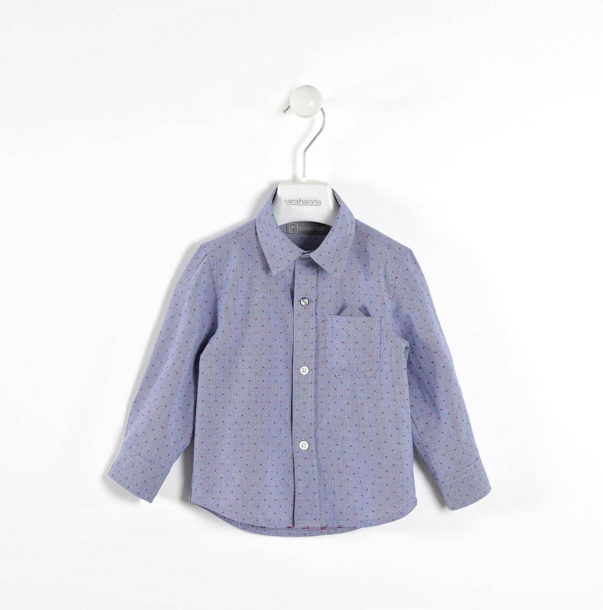 detailed look 27810 f6def Elegante camicia 100% cotone per bambino da 6 mesi a 7 anni Sarabanda