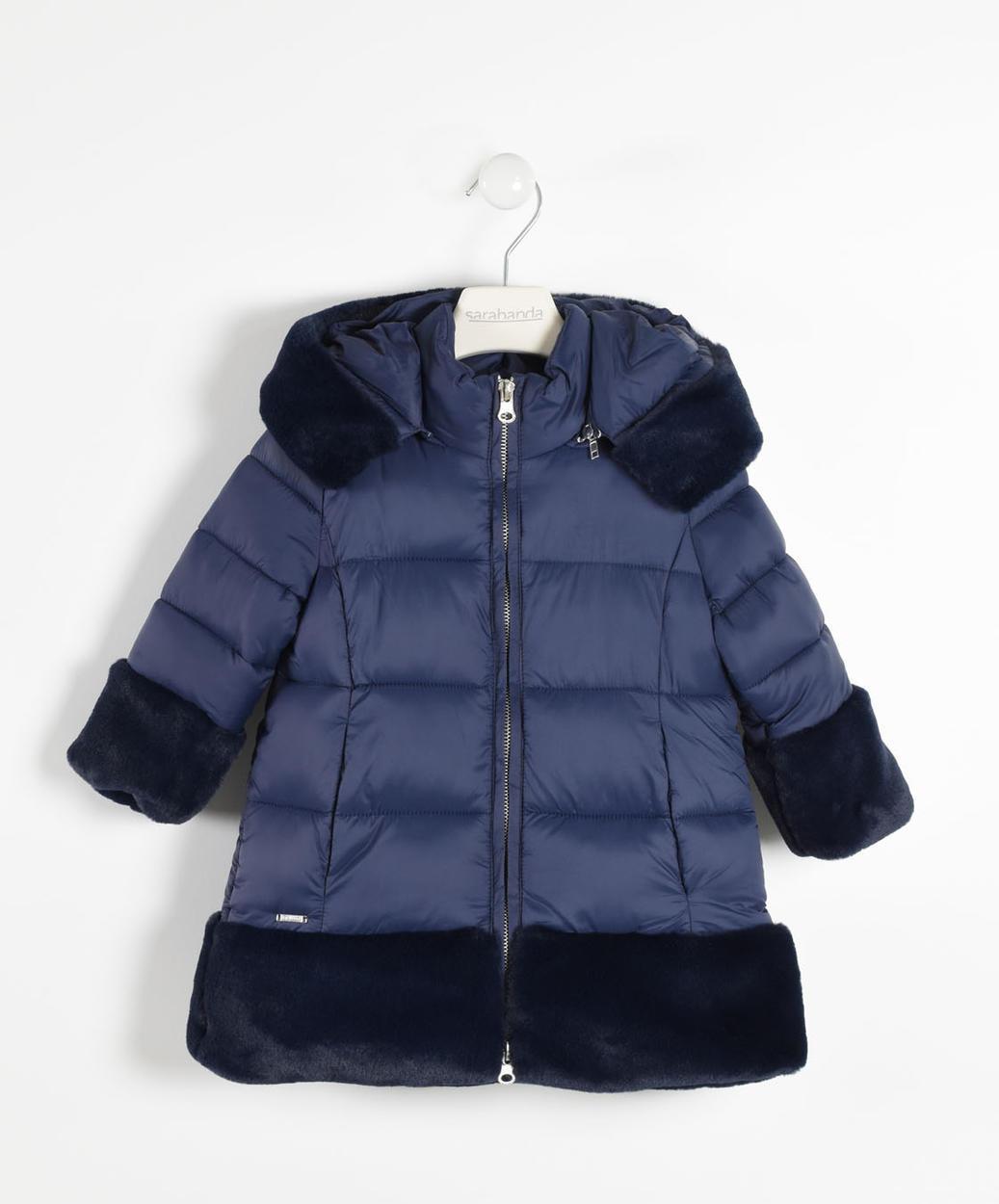 reputable site 9c0c4 a0e59 Elegante piumino con inserti in eco pelliccia per bambina da 6 mesi a 7  anni Sarabanda