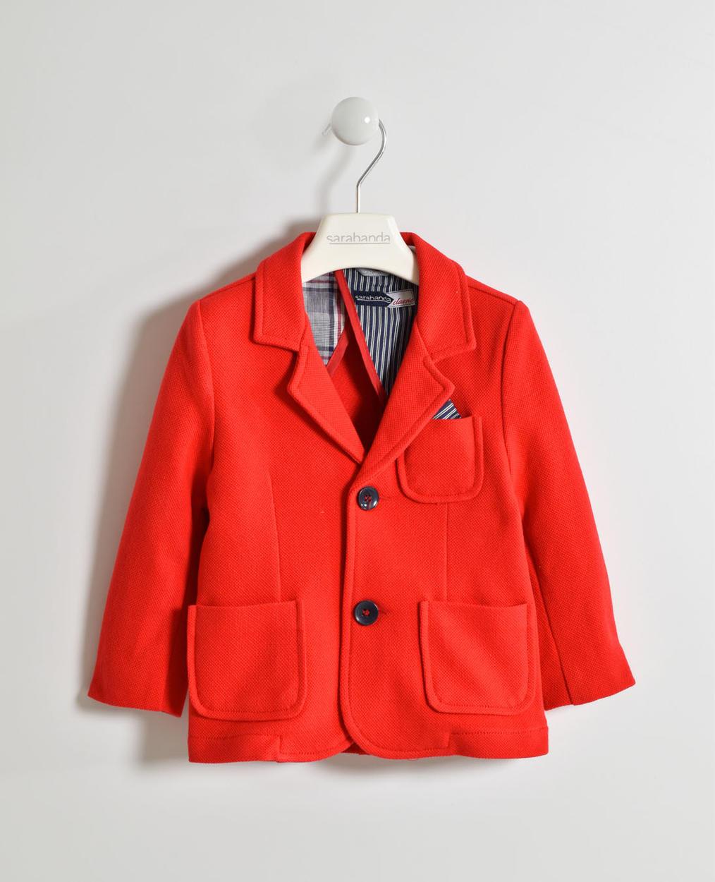 Coat, Blazer Bambina, Rosso 3 anni