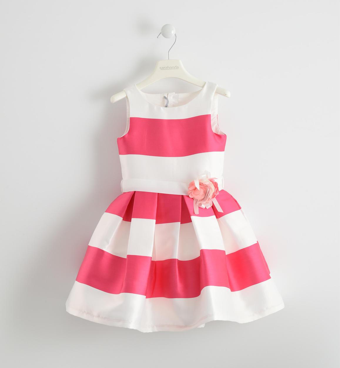 Vestiti Cerimonia Bambina 6 Anni.Vestito Cerimonia Color Block In Raso Per Bambina Da 6 A 16 Anni