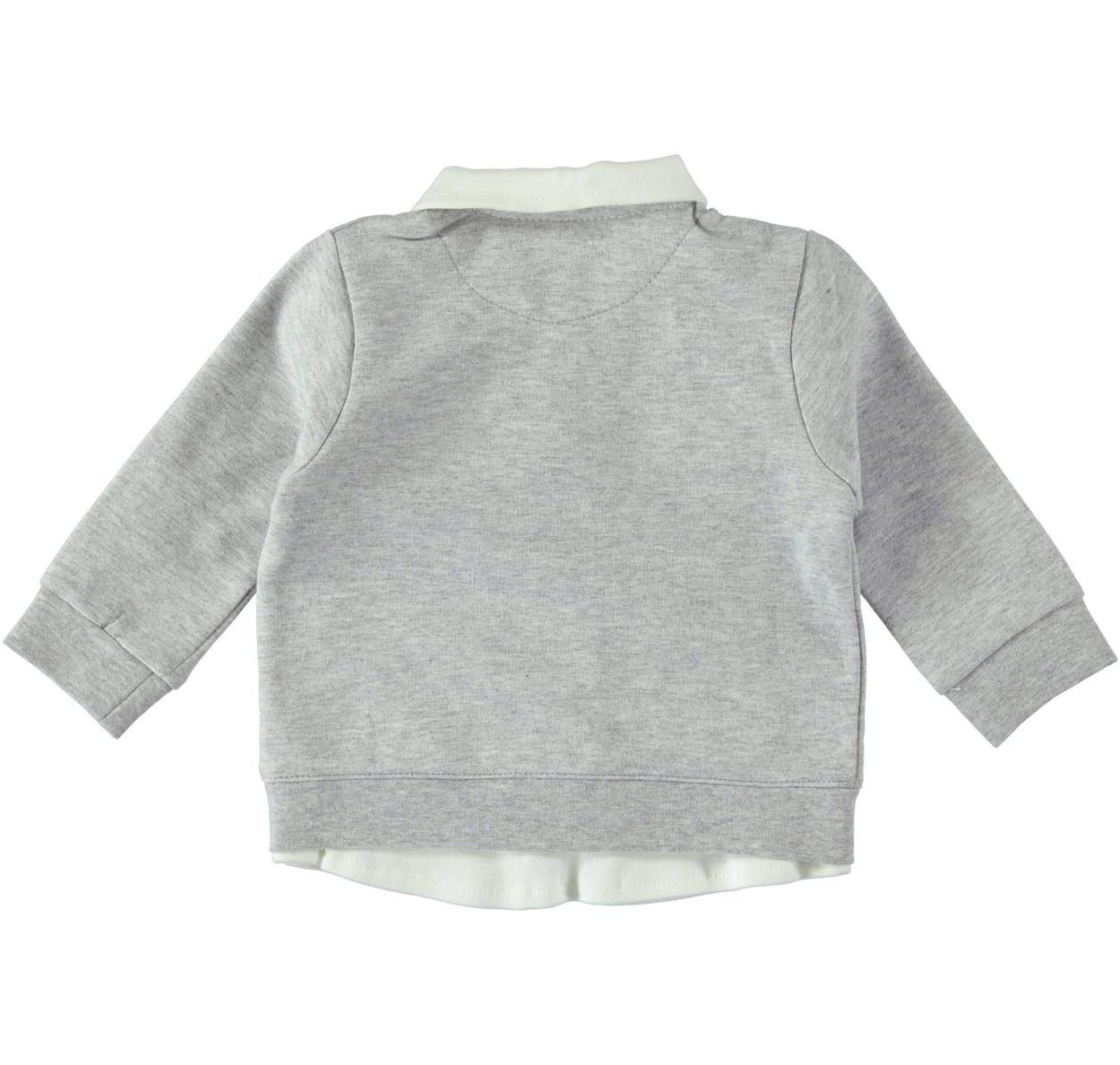 scarpe sportive 113c5 5660c Maglietta finta camicia con maglioncino per neonato da 0 a 18 mesi Mignolo