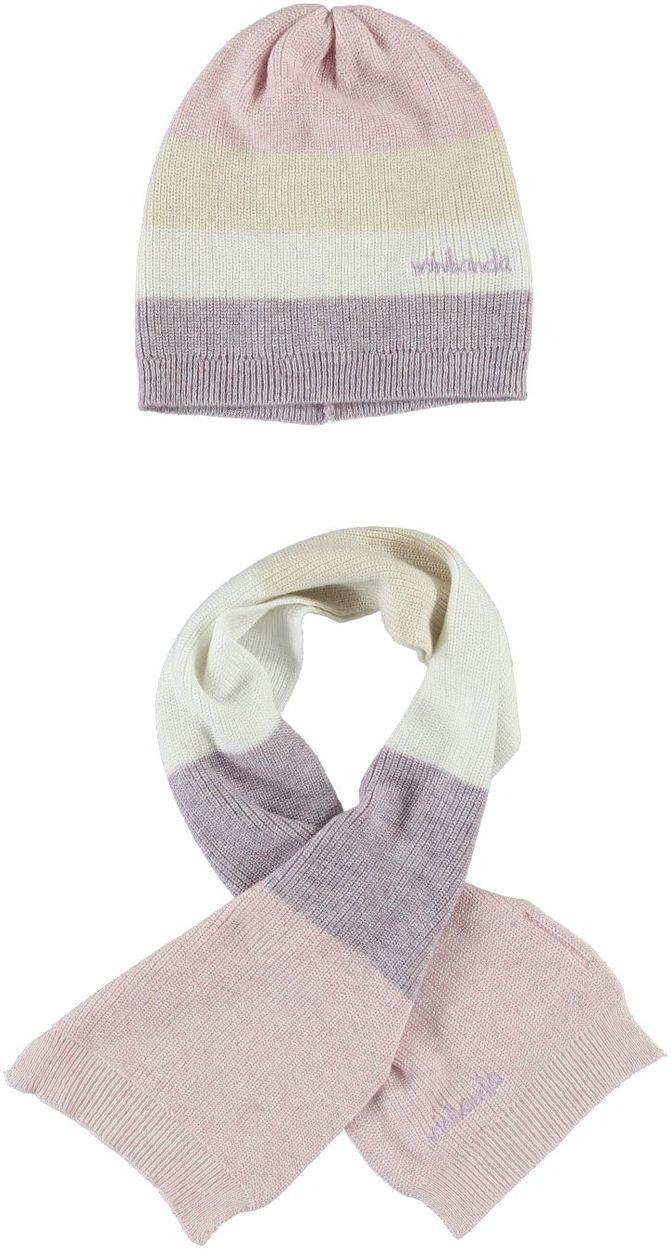 Popolare Sciarpa e cappello in tricot per bambina da 0 a 18 mesi Minibanda  EF32