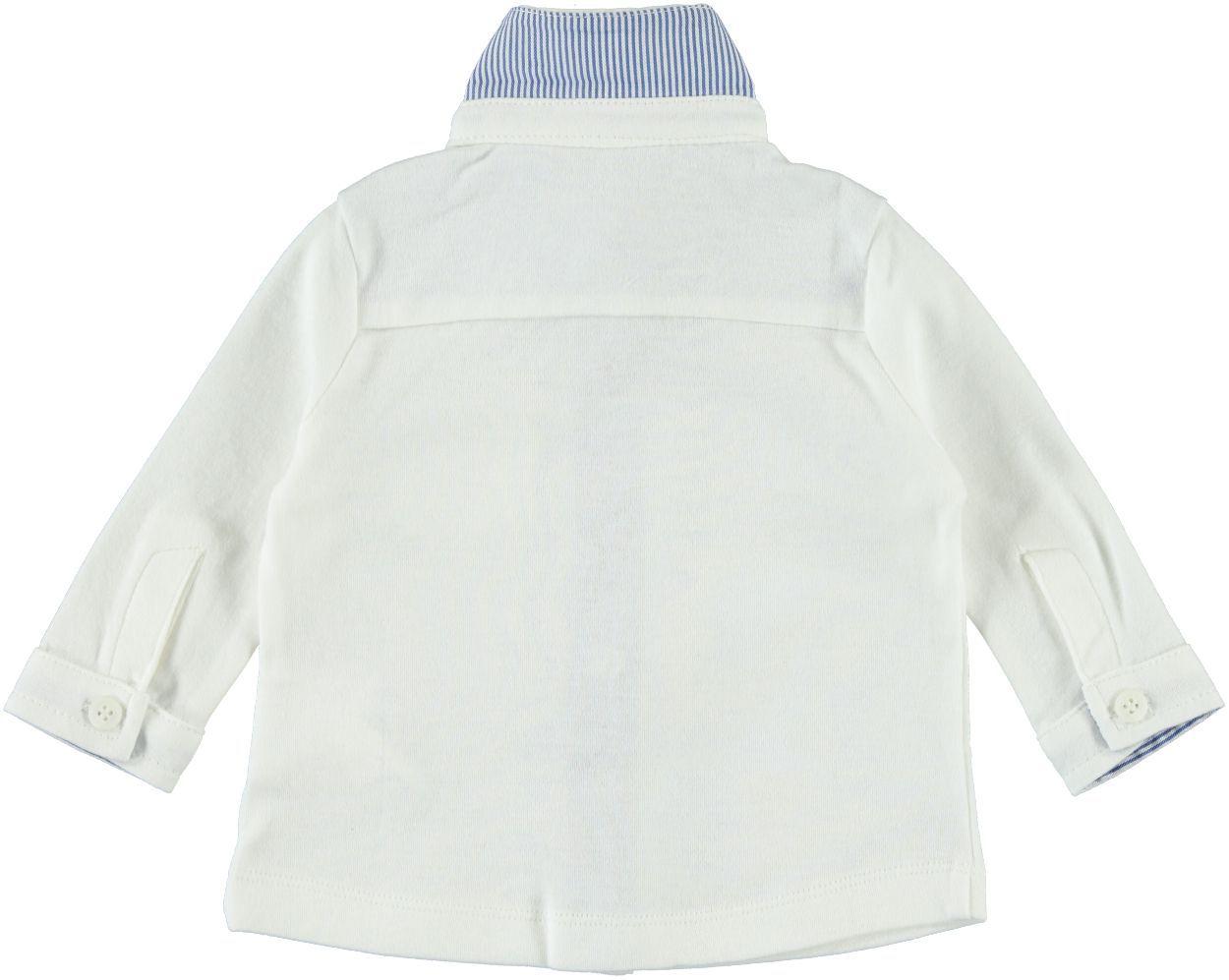 1d8e31dc08 Camicia bianca 100% cotone per bambino da 0 a 18 mesi Minibanda ...