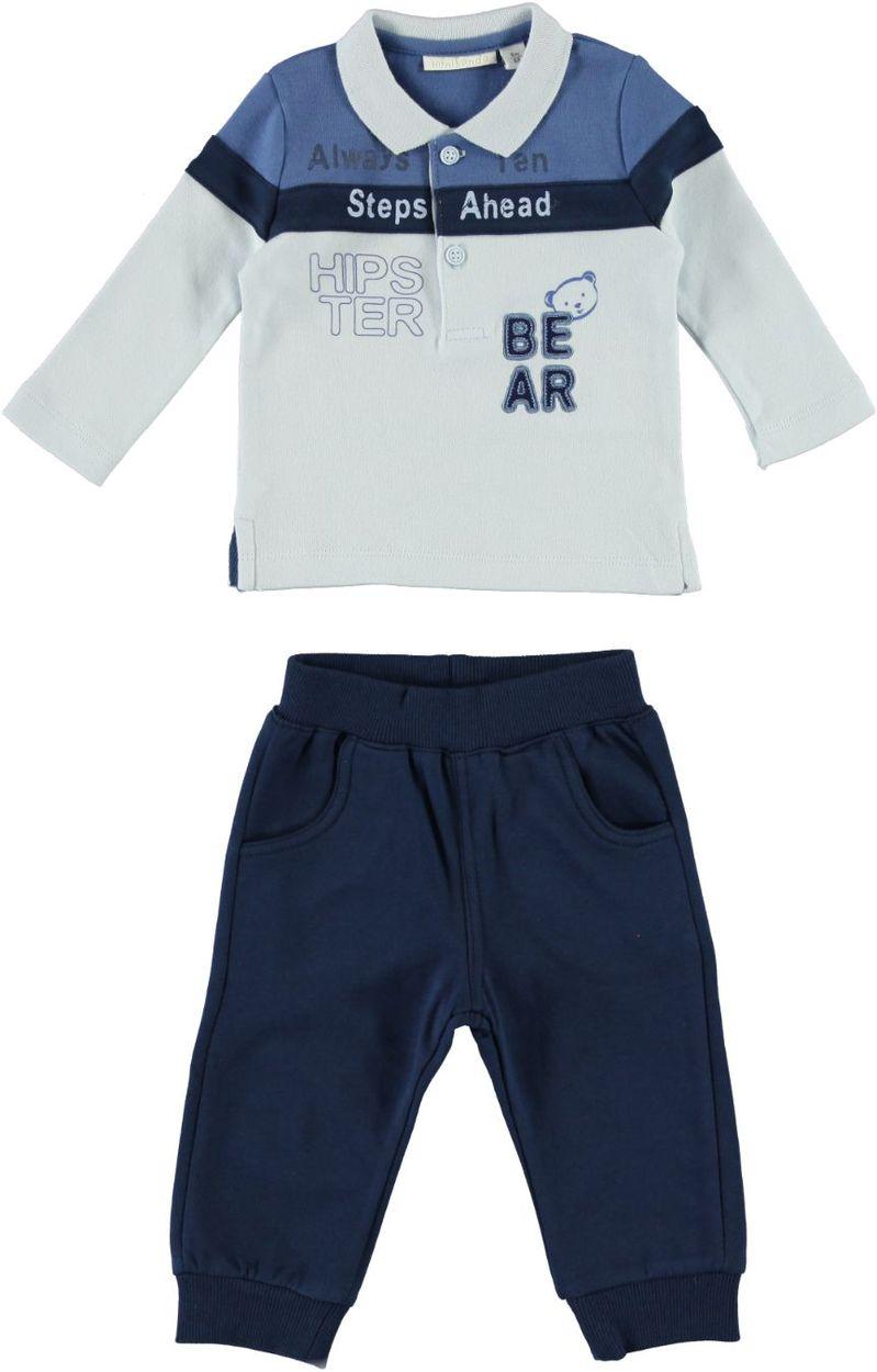 Abbigliamento neonato  completo 2 pezzi 100% cotone per bambino da 0 a 18  mesi Minibanda 540149da836