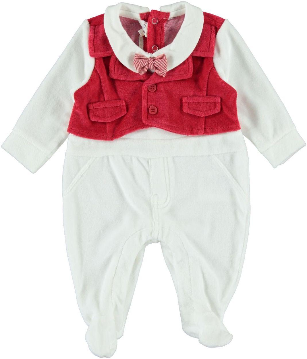 Bien-aimé Tutina neonato con finto gilet per bambino da 0 a 18 mesi  IE85