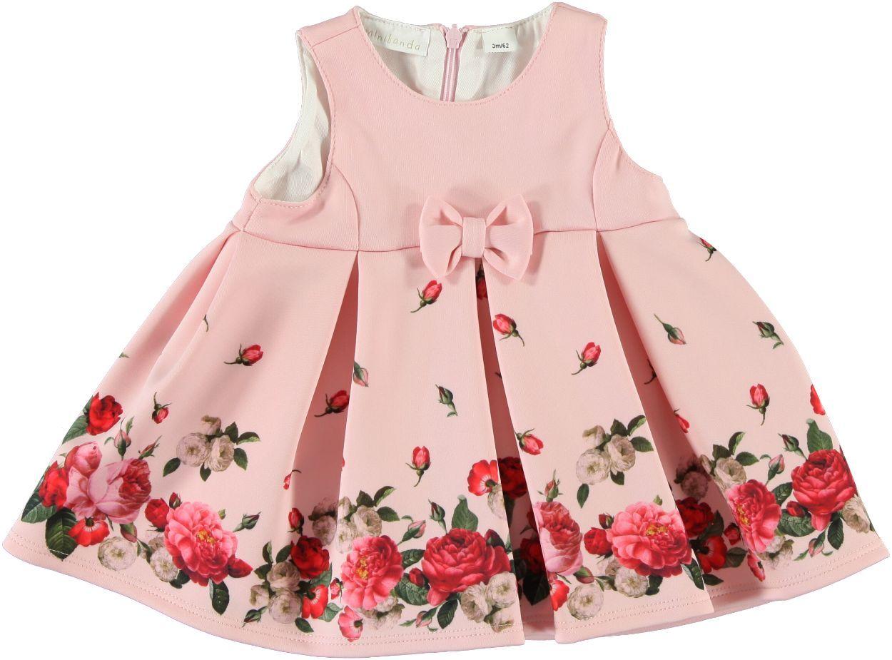 super speciali Liquidazione del 60% forma elegante Vestitino neonata modello scamiciato con stampa di rose per bambina da 0 a  18 mesi Minibanda