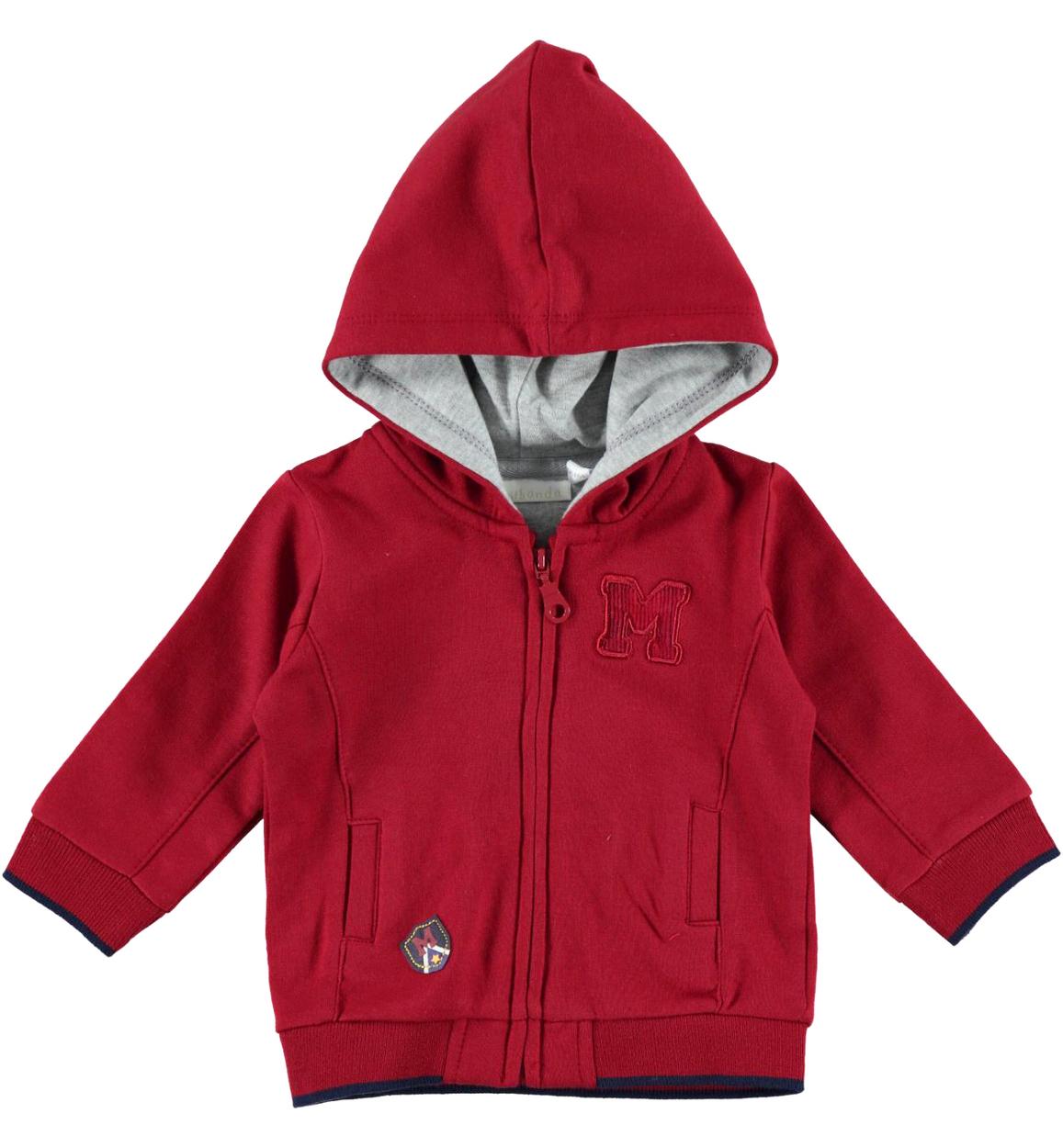 comprare on line 069a1 e951b Felpa neonato con zip e cappuccio foderato vestibilità da 0 a 24 mesi  Minibanda