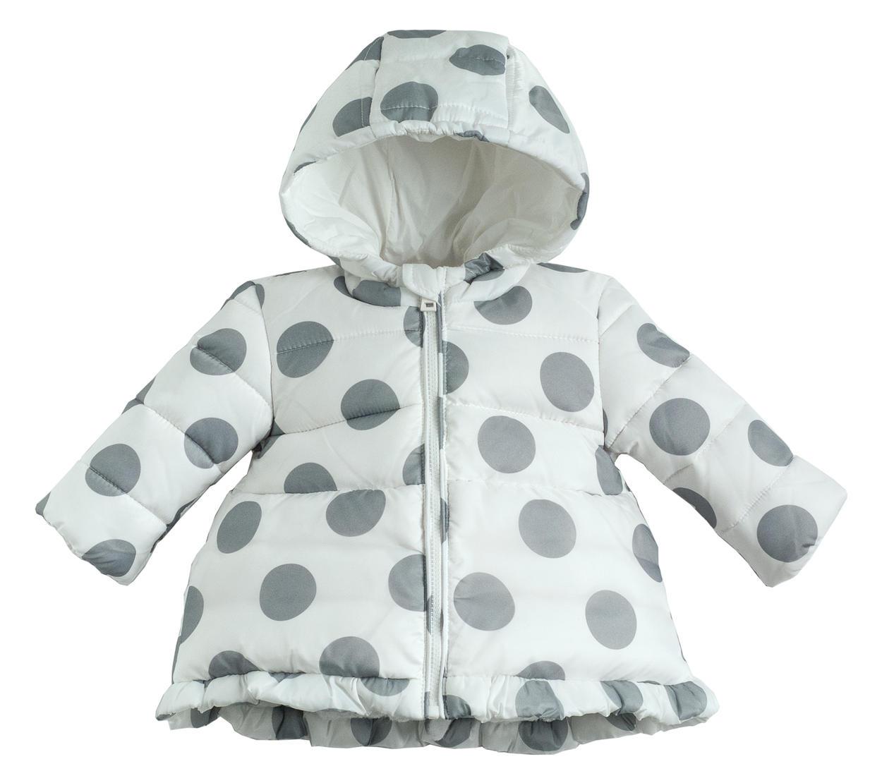 online store cb977 f569a Piumino invernale stampato a pois per neonata da 0 a 24 mesi Minibanda