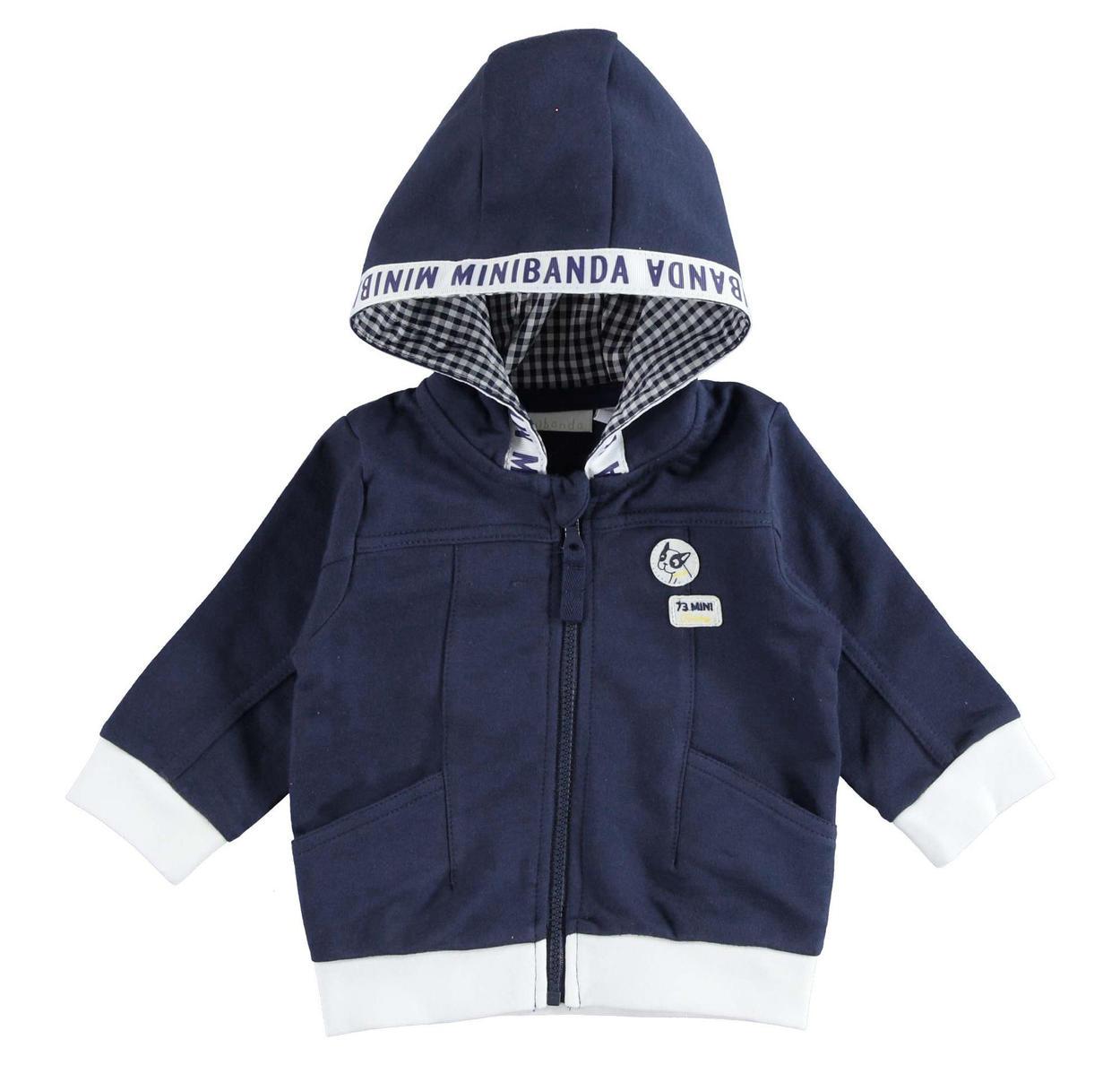 design innovativo c646a 24cc3 Felpa neonato in tessuto non garzato 100% cotone vestibilità da 0 a 24 mesi  Minibanda