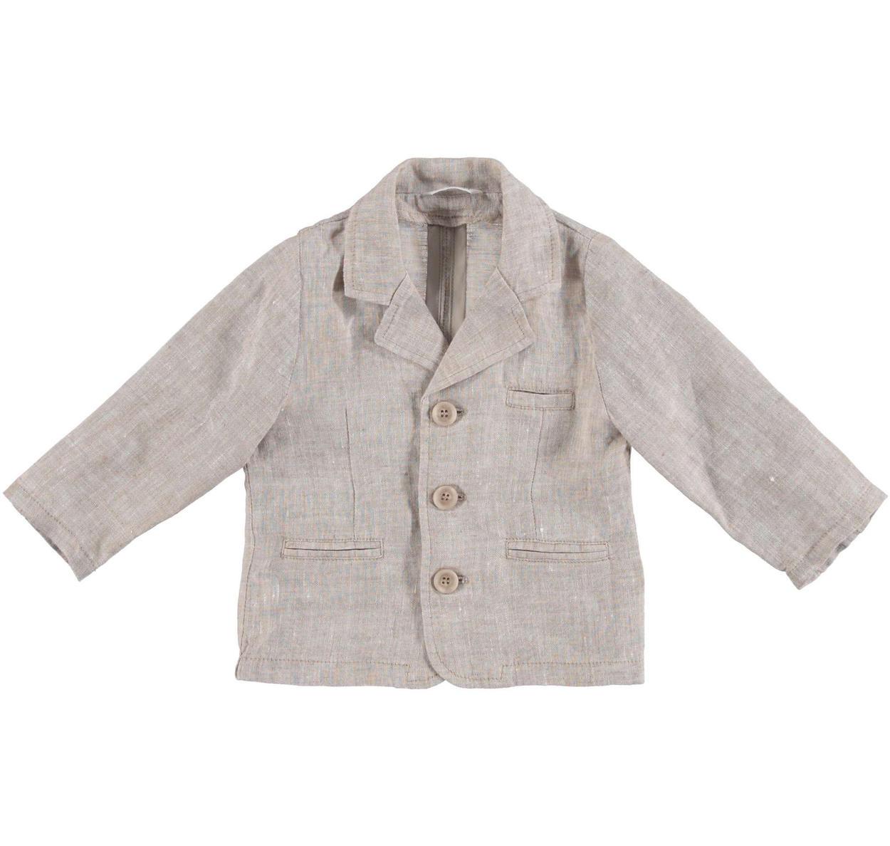 info for c1886 35d22 Elegante giacca 100% lino per neonato da 0 a 24 mesi Minibanda