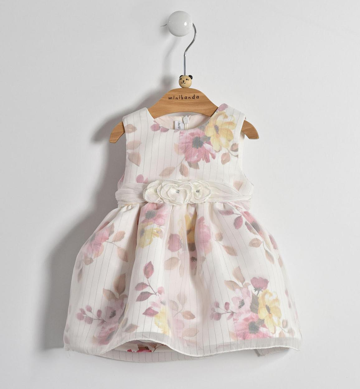 Vestiti Eleganti Neonata.Elegante Vestitino Con Motivo Floreale Per Neonata Da 0 A 24 Mesi
